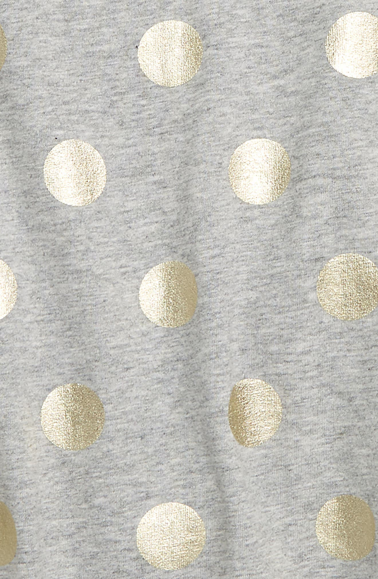 Time to Shine Tee,                             Alternate thumbnail 2, color,                             GREY MARLE/ GOLD FOIL SPOT