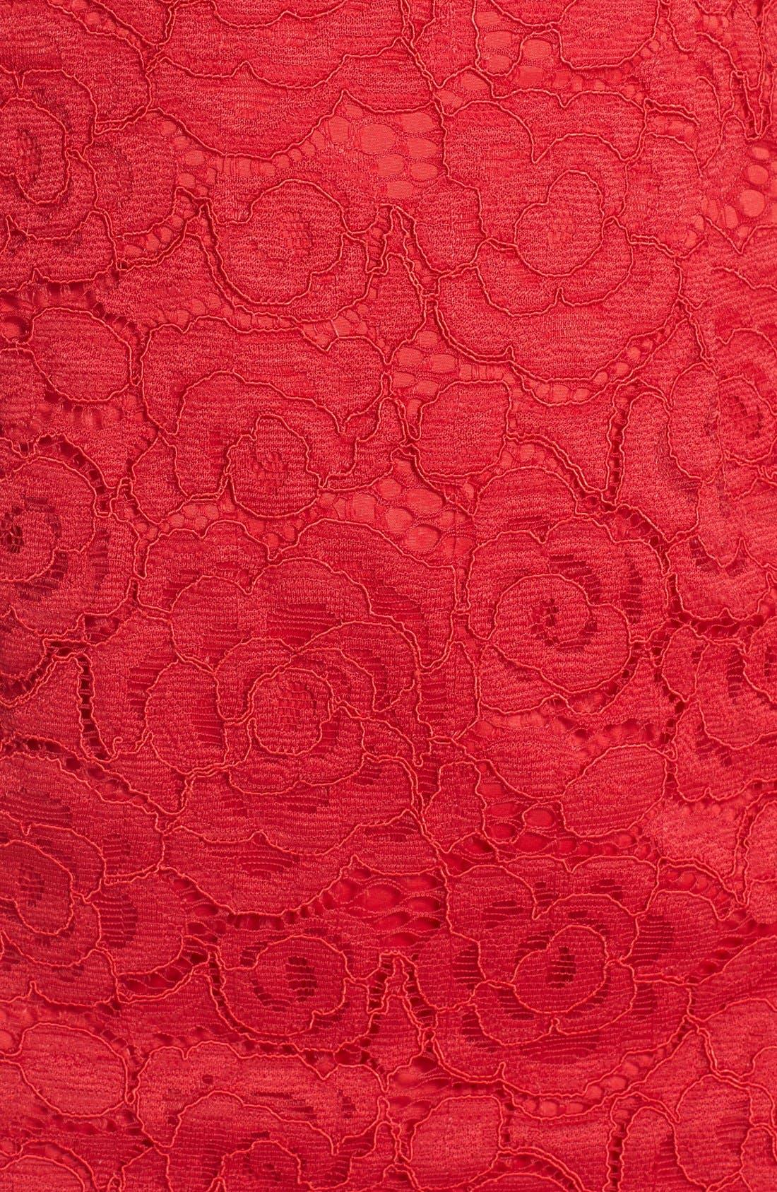 Off the Shoulder Lace Sheath Dress,                             Alternate thumbnail 17, color,