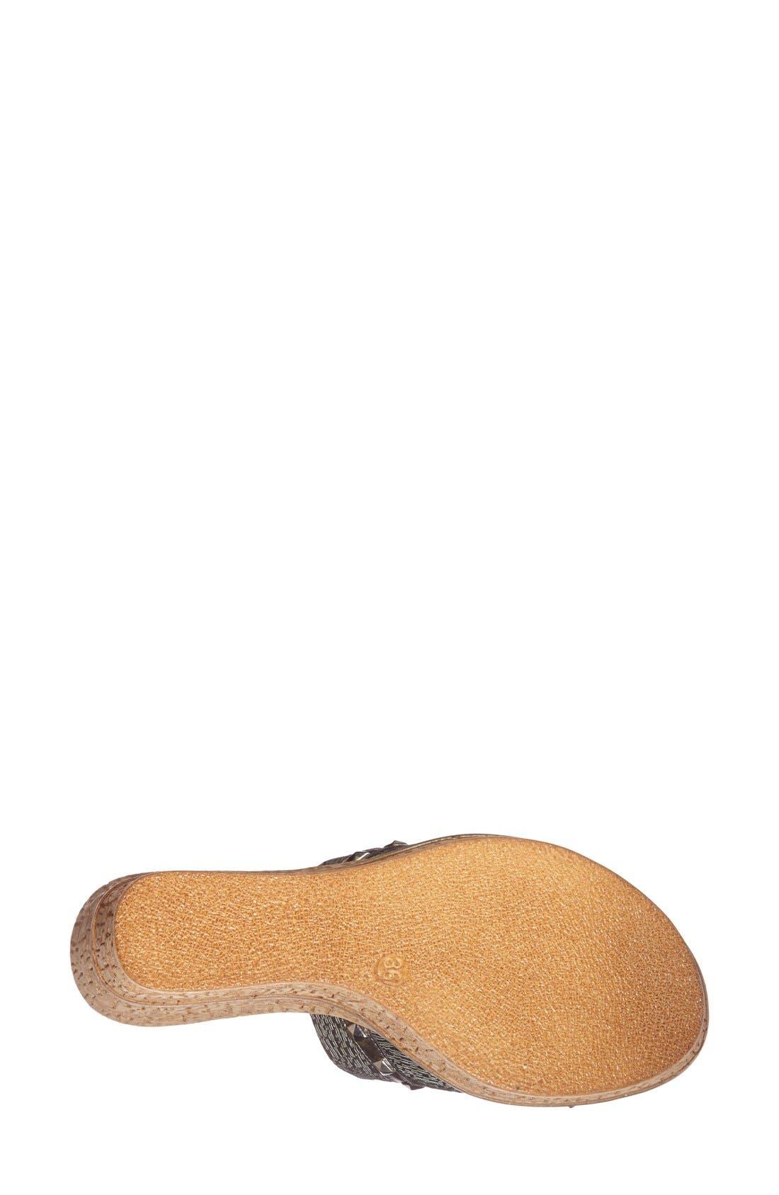 'Margo' Wedge Slide Sandal,                             Alternate thumbnail 6, color,                             040