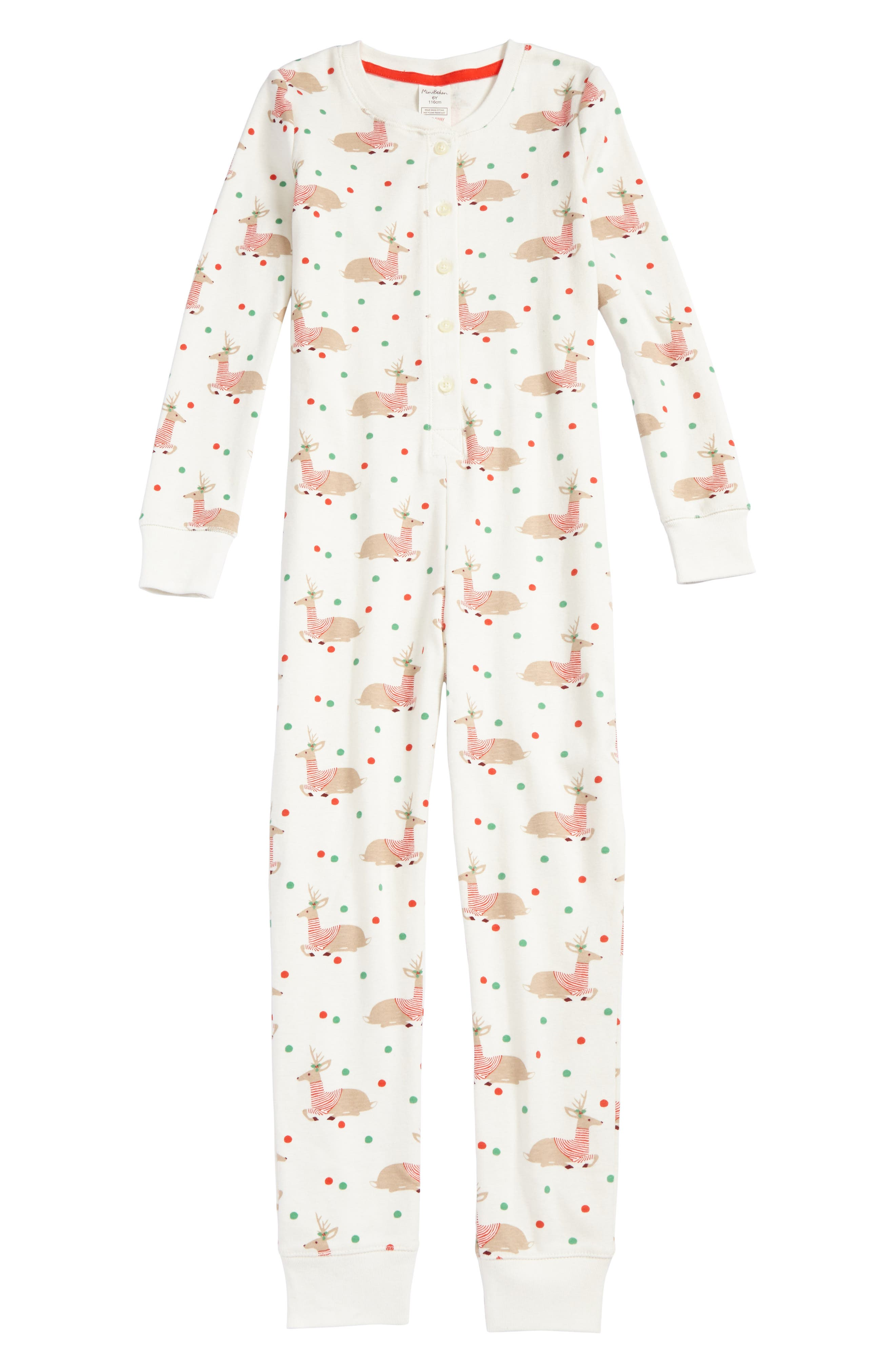 Fitted One-Piece Pajamas,                             Main thumbnail 2, color,