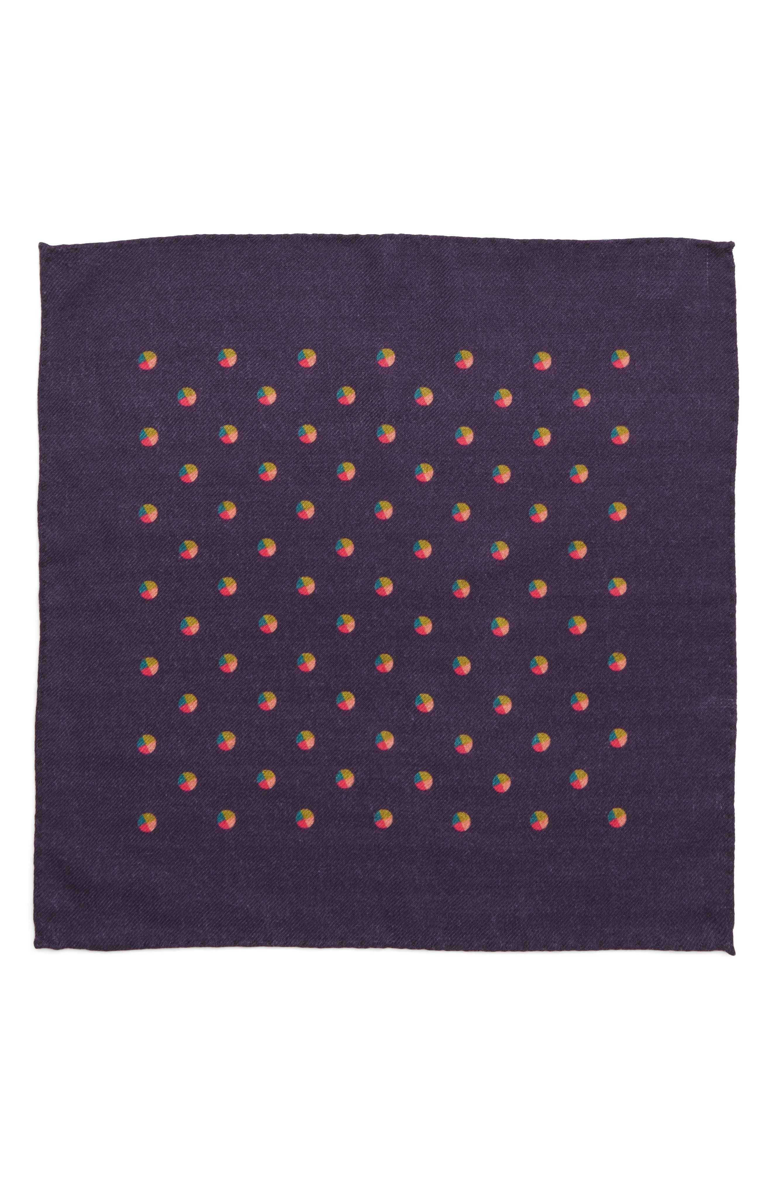 Dot Wool Pocket Square,                             Alternate thumbnail 2, color,                             400