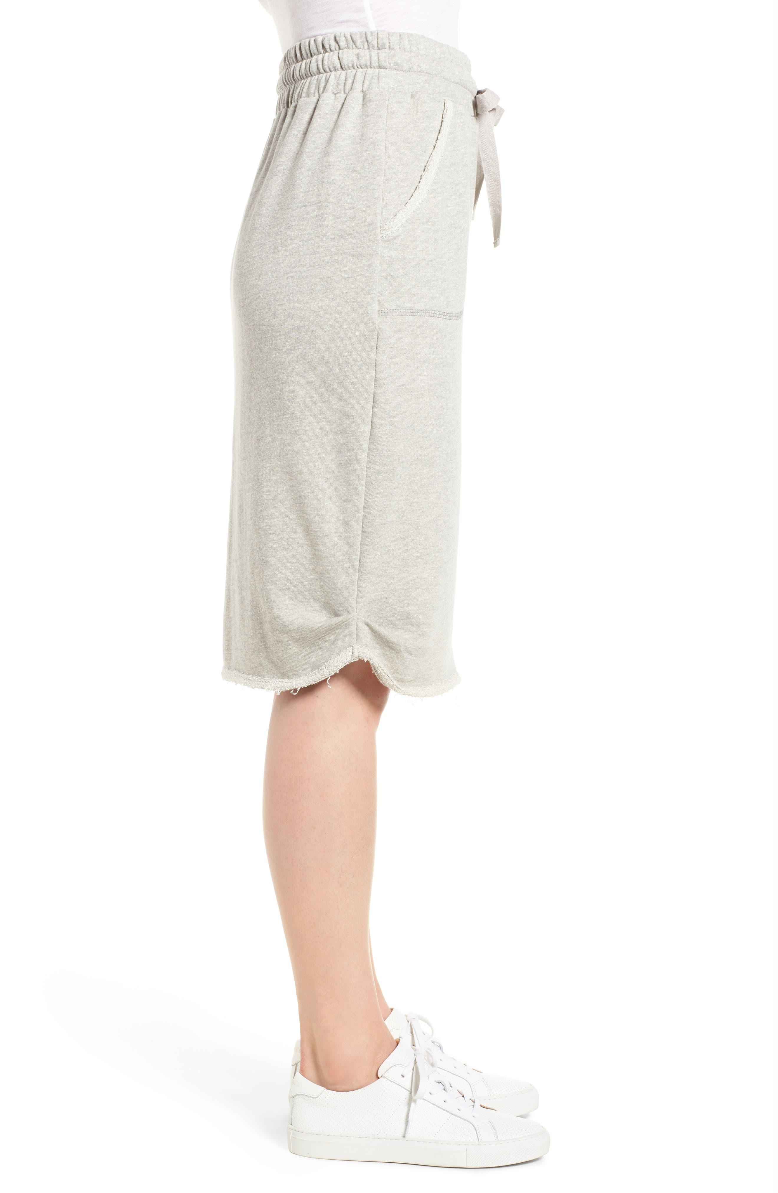 Off-Duty Cotton Knit Drawstring Skirt,                             Alternate thumbnail 3, color,