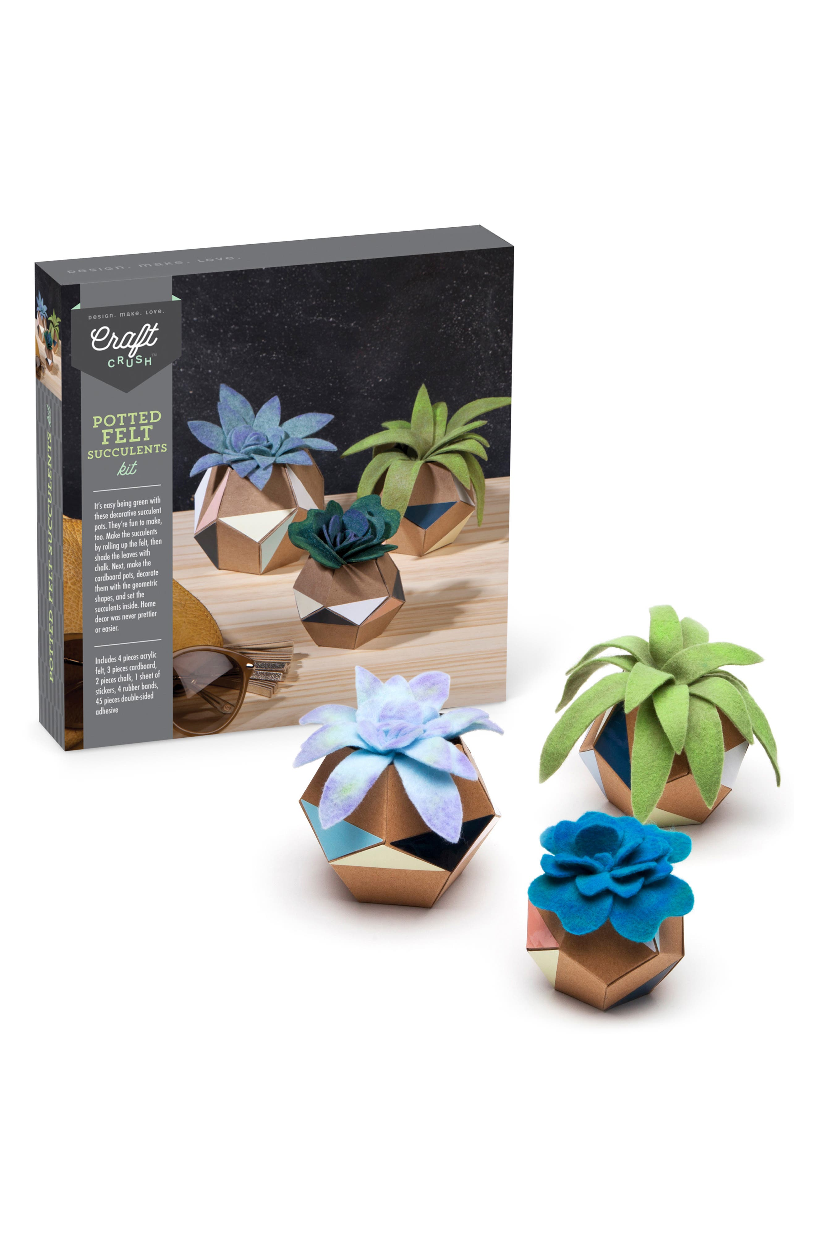 Felt Succulent Pot Craft Kit,                             Alternate thumbnail 4, color,                             MULTI