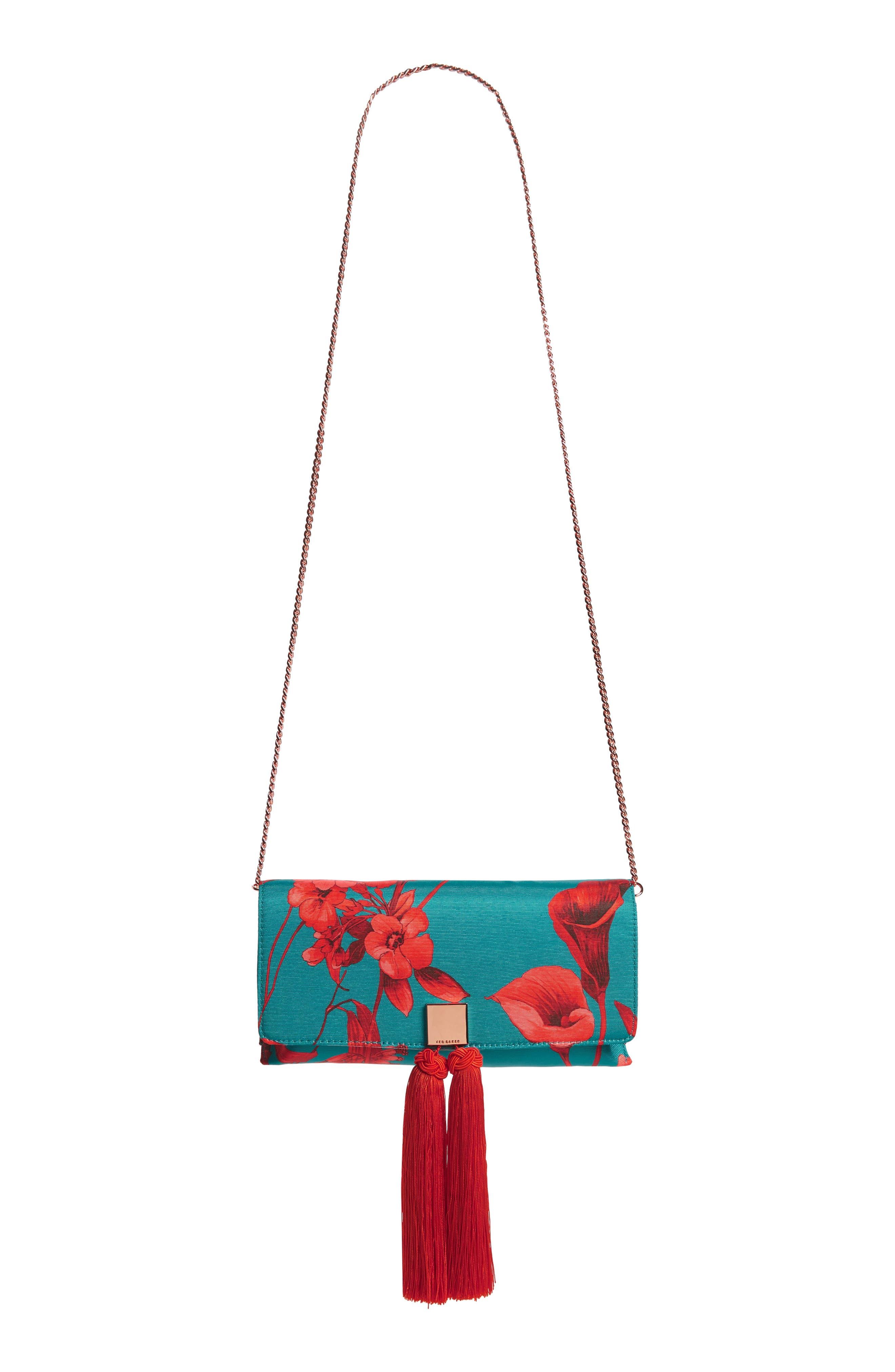 Darlee Fantasia Tassel Bag,                             Alternate thumbnail 2, color,                             TURQUOISE