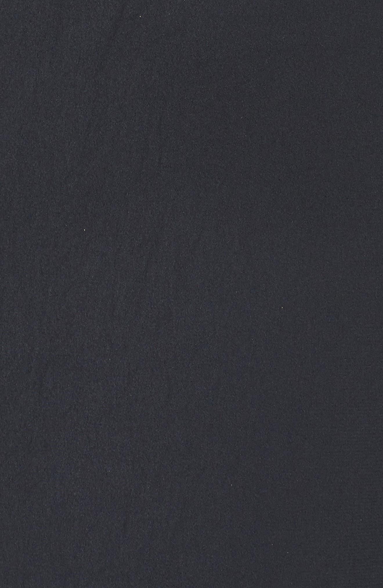 Ruffle Sleeve Satin Dress,                             Alternate thumbnail 5, color,                             001