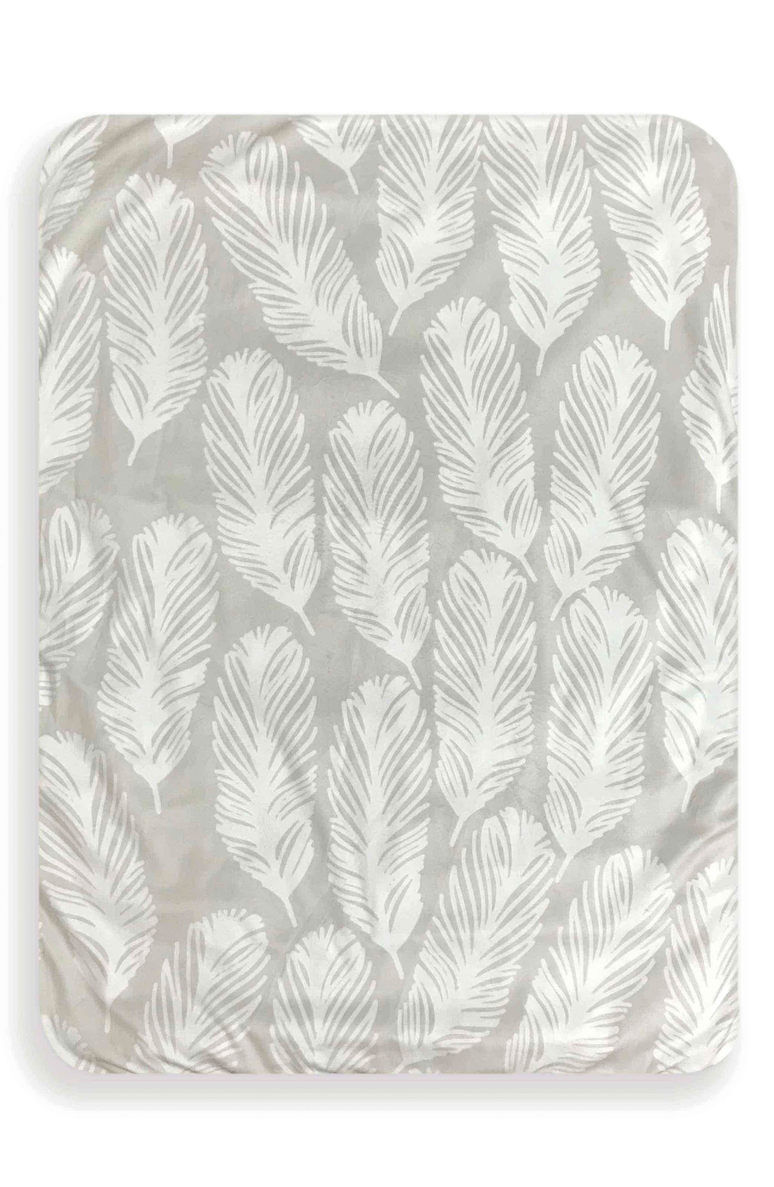 Feathers & Forest Play Mat,                             Main thumbnail 1, color,                             TAUPE AND WHITE