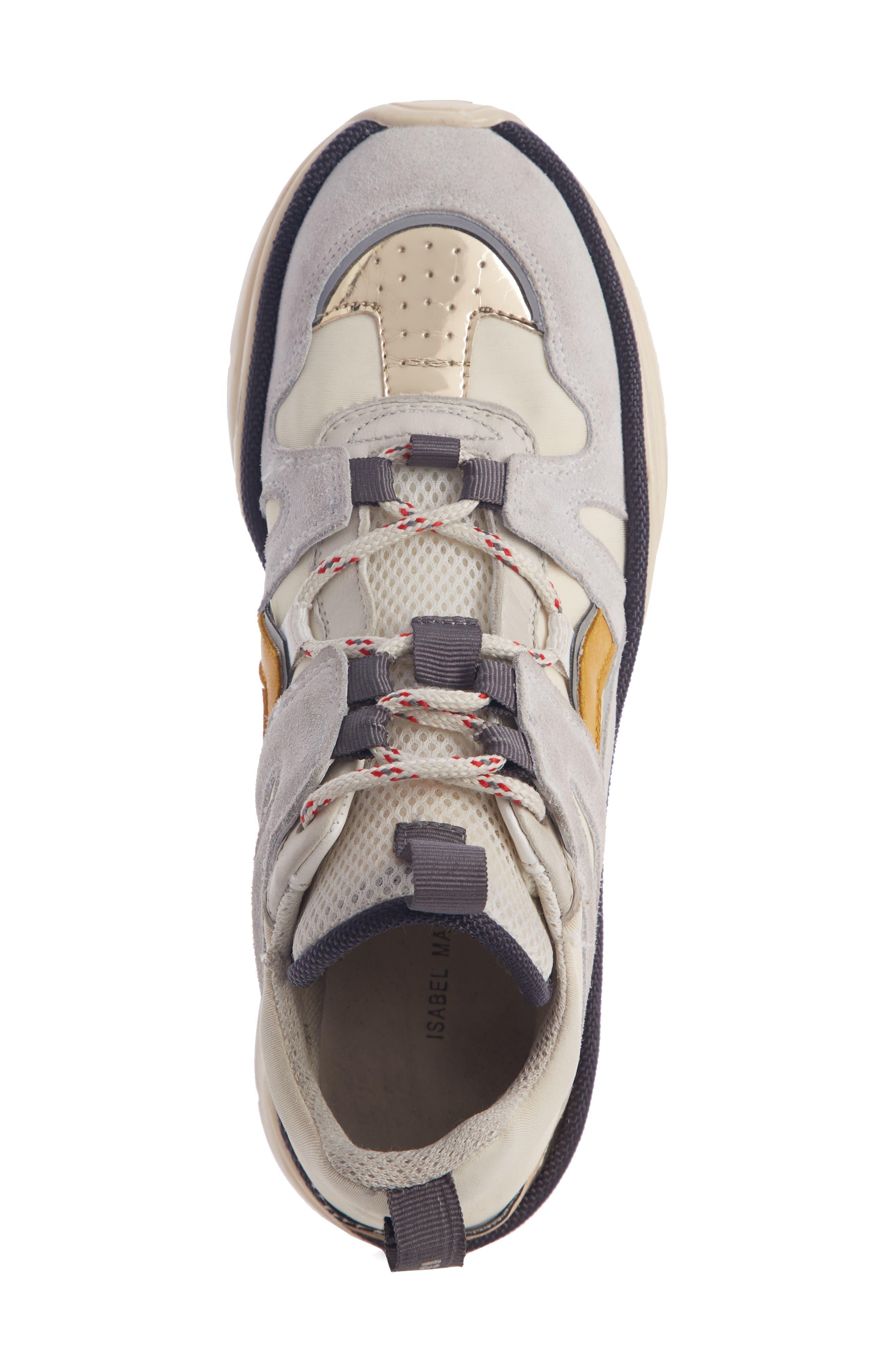 Kindsay Lace-Up Sneaker,                             Alternate thumbnail 4, color,                             WHITE