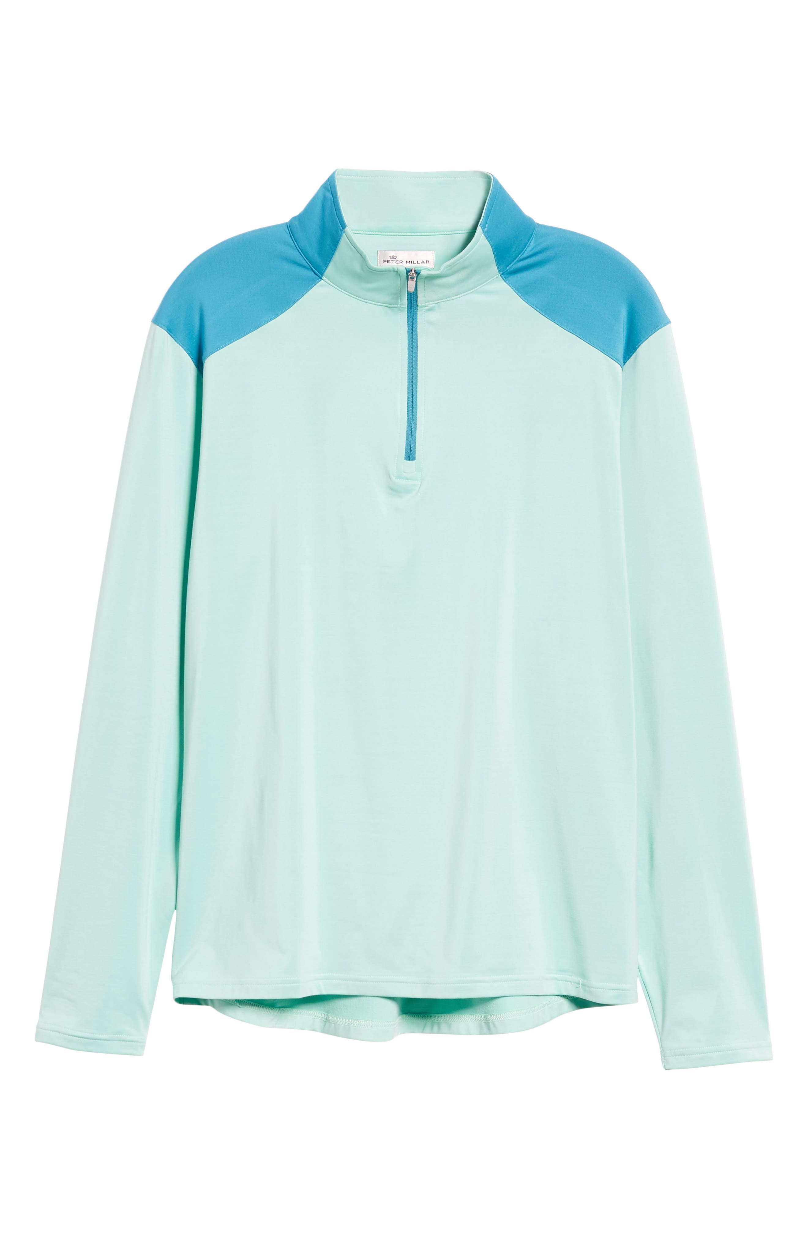 Quarter Zip Performance Pullover,                             Alternate thumbnail 6, color,                             TEAL