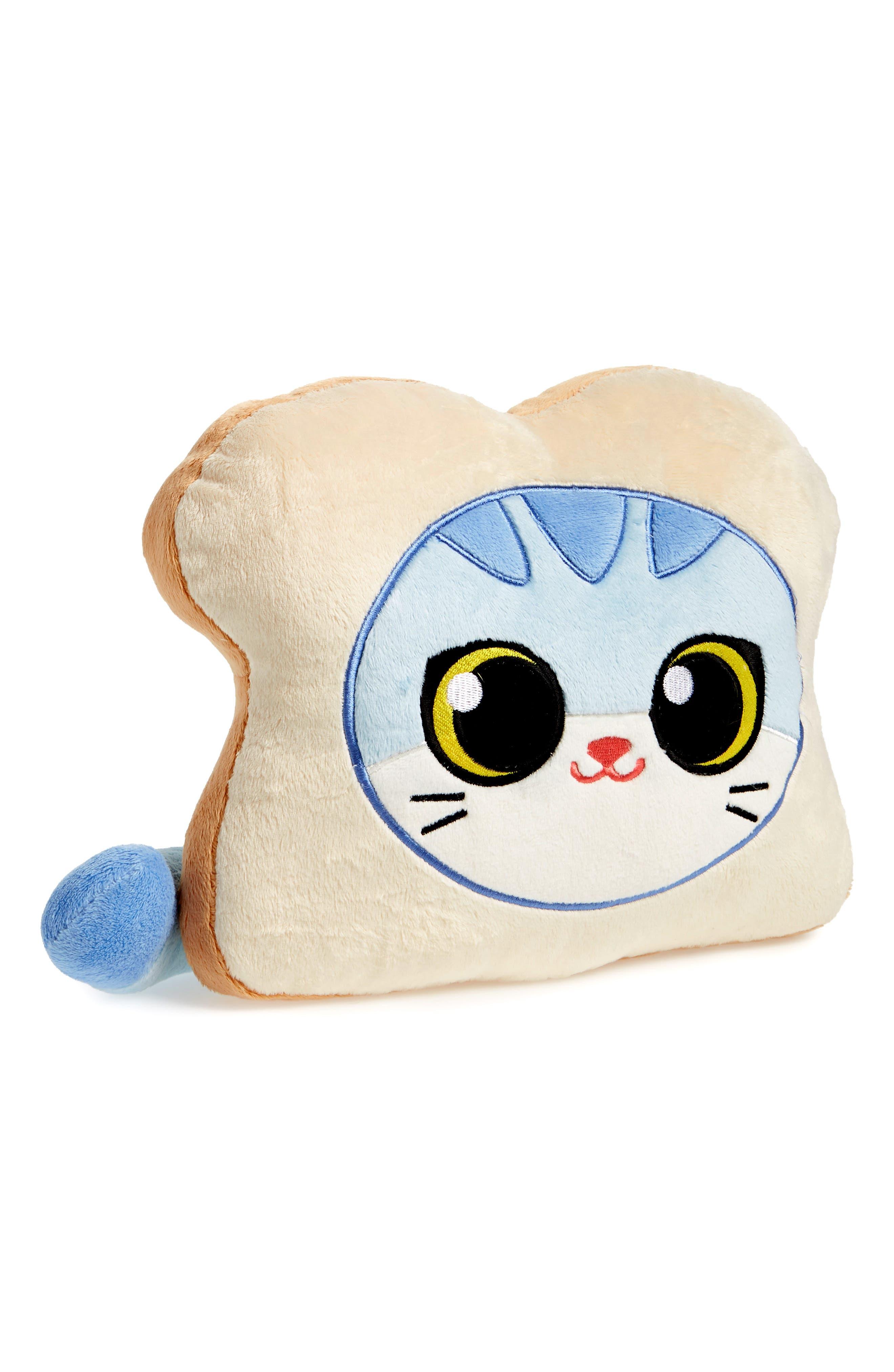 Cat Bread Stuffed Pillow,                             Main thumbnail 1, color,