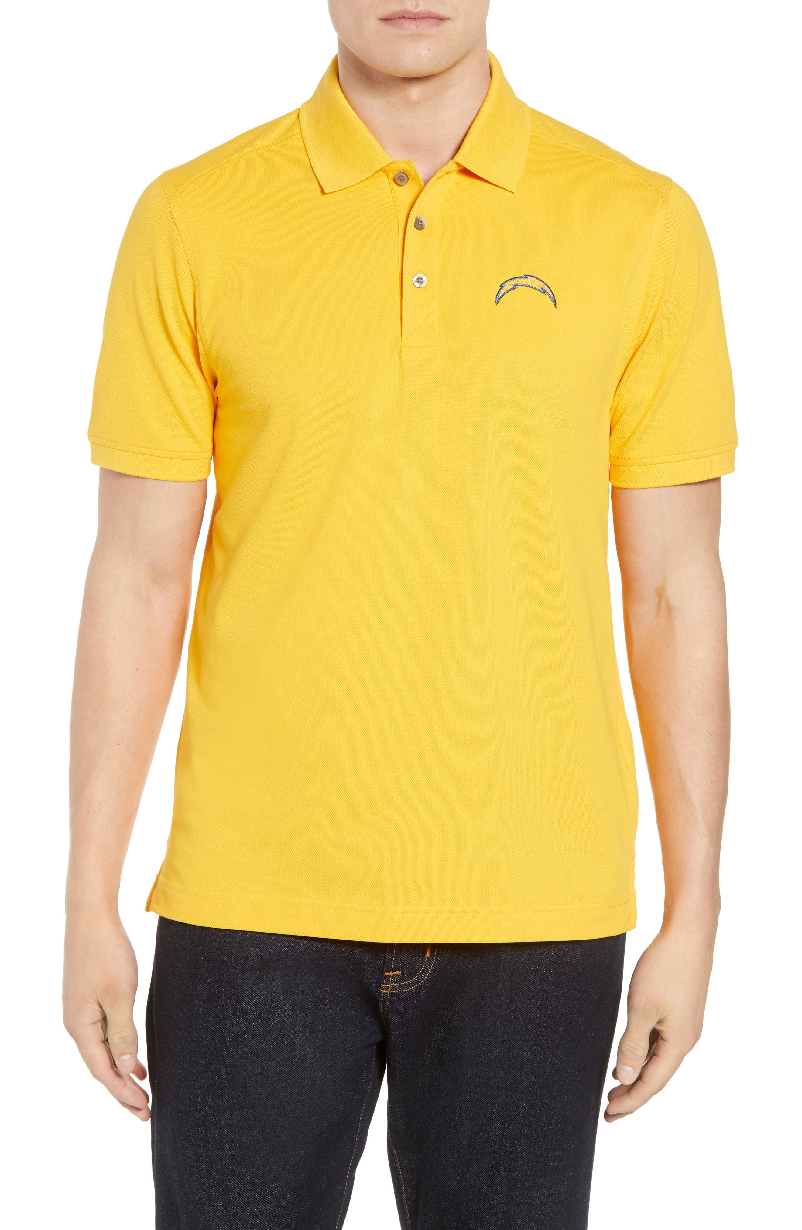 Los Angeles Chargers - Advantage Regular Fit DryTec Polo,                             Main thumbnail 1, color,                             COLLEGE GOLD