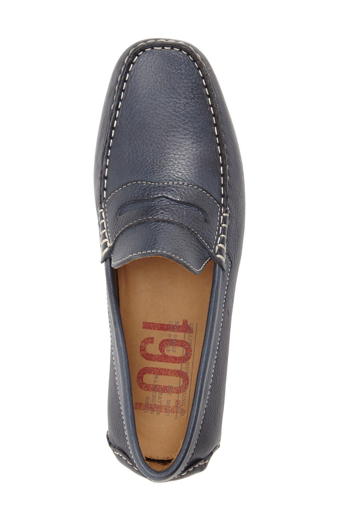 'Bermuda' Penny Loafer,                             Alternate thumbnail 3, color,                             MARINE LEATHER