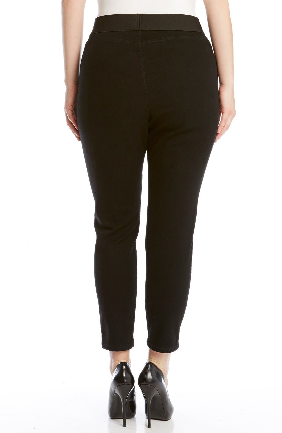 KAREN KANE,                             Denim Leggings,                             Alternate thumbnail 2, color,                             DARK BLACK