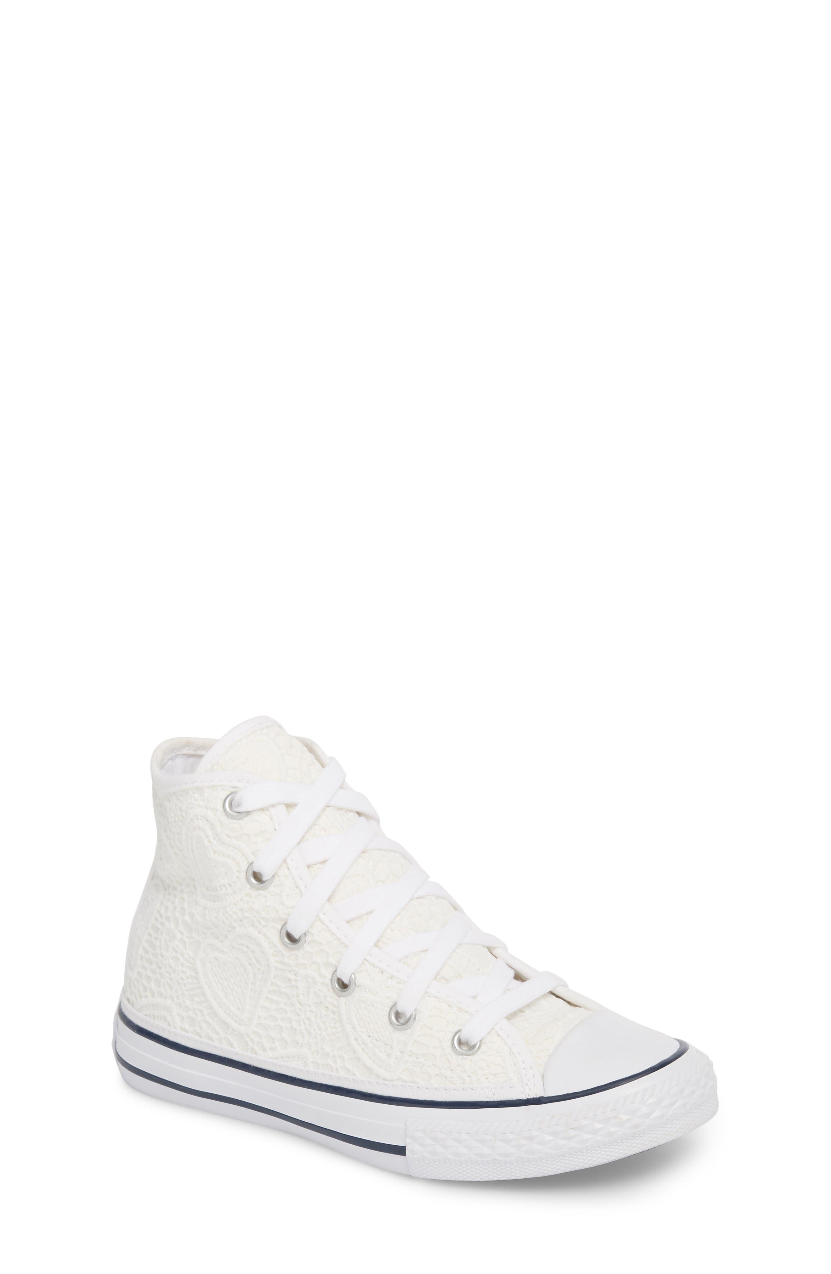 Chuck Taylor<sup>®</sup> All Star<sup>®</sup> Crochet High Top Sneaker,                             Main thumbnail 1, color,                             102