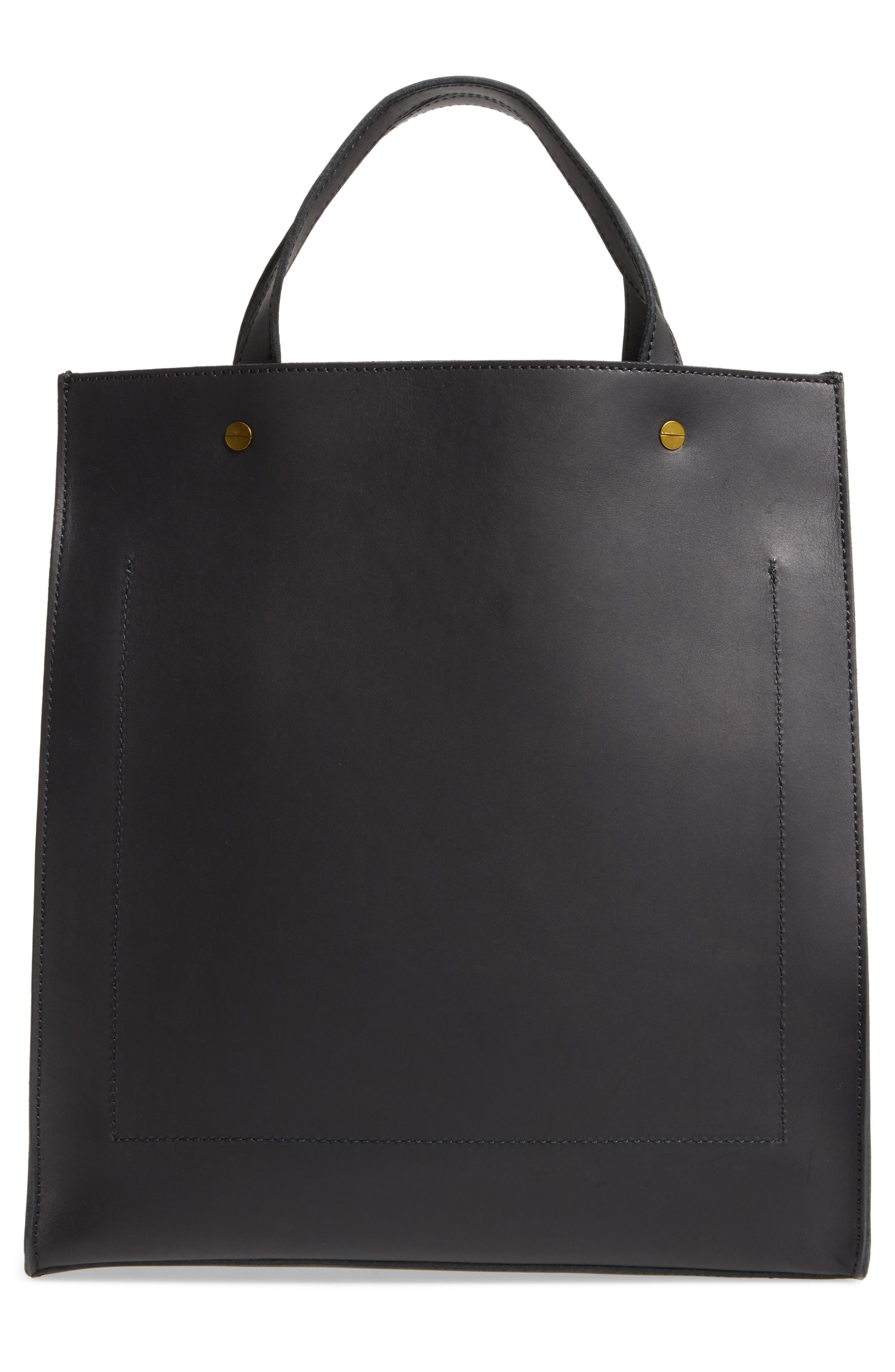 The Passenger Convertible Leather Tote,                             Alternate thumbnail 3, color,                             001