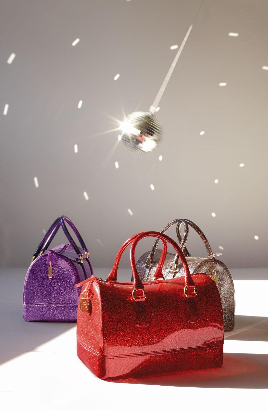 FURLA,                             'Candy - Glitter' Rubber Satchel,                             Alternate thumbnail 2, color,                             040