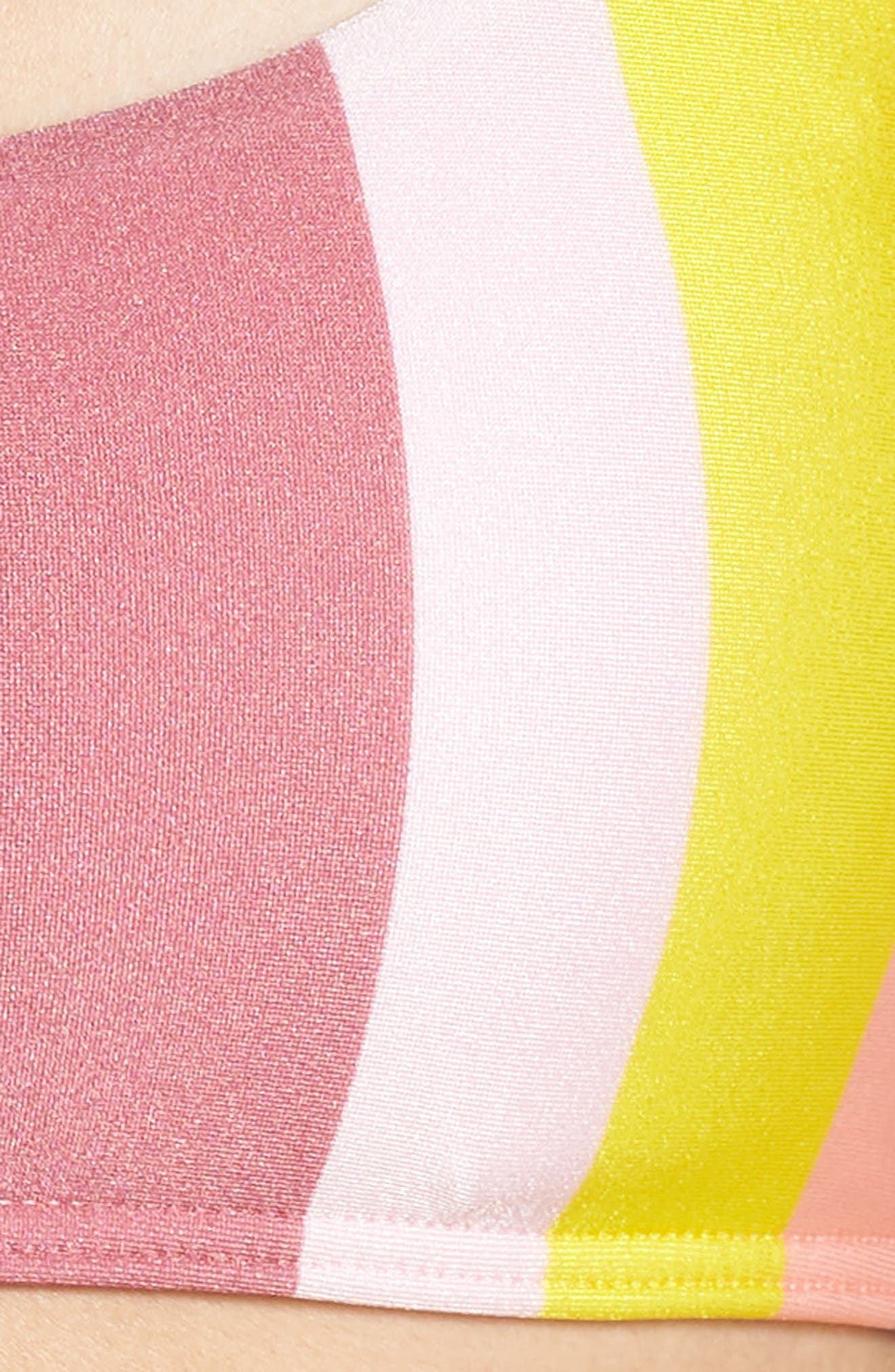 Penora Rio Stripe Bikini Top,                             Alternate thumbnail 5, color,                             LIGHT PINK