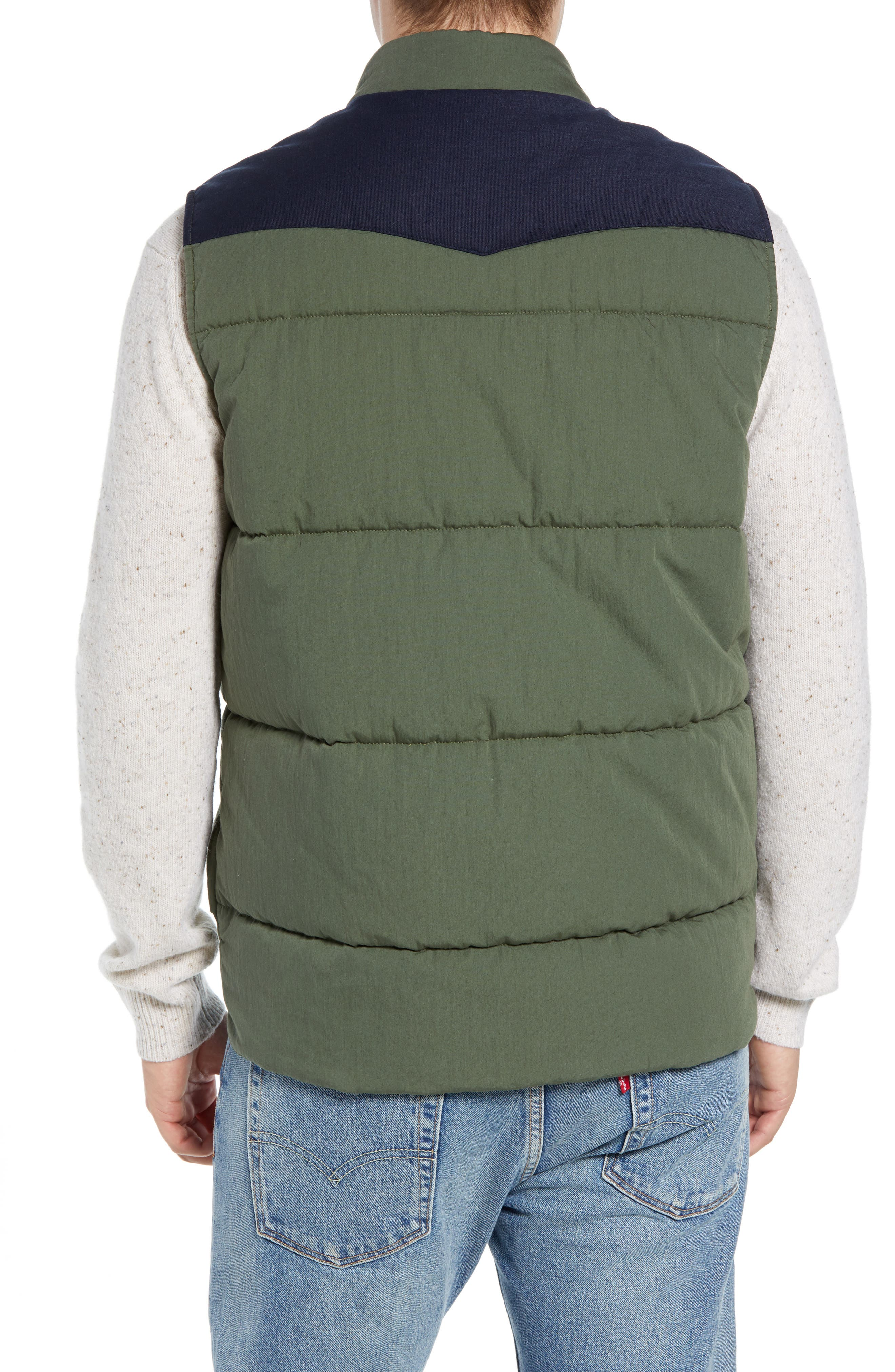 Quilted Western Vest,                             Alternate thumbnail 2, color,                             FOREST / NAVY