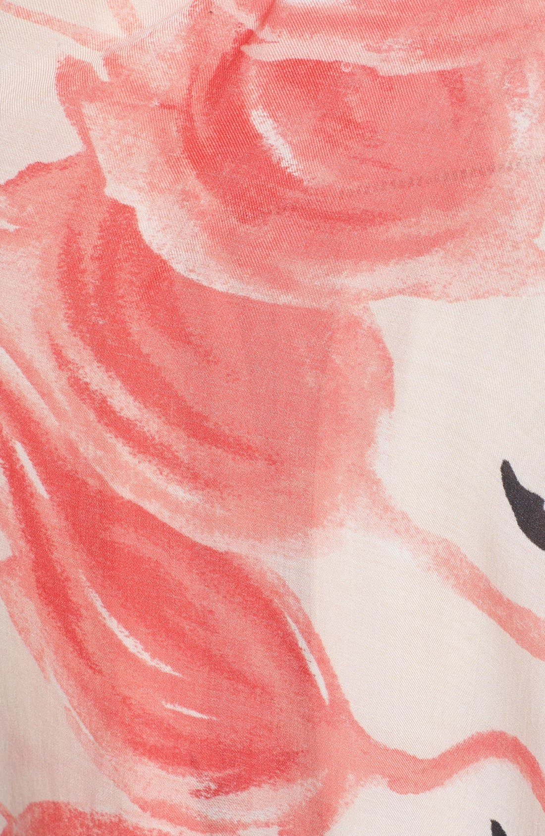 'flamingo' fringe scarf,                             Alternate thumbnail 2, color,                             680
