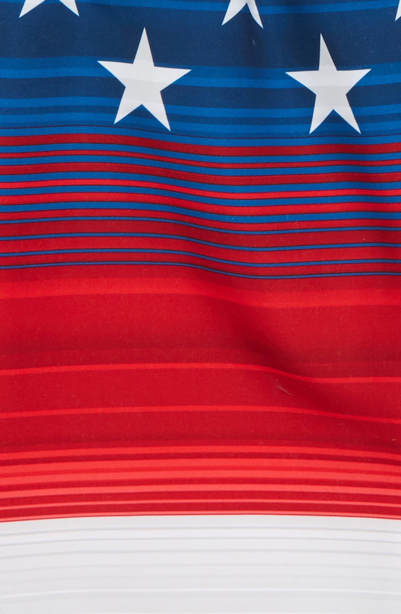 Americana Stripe Volley Shorts,                             Alternate thumbnail 2, color,
