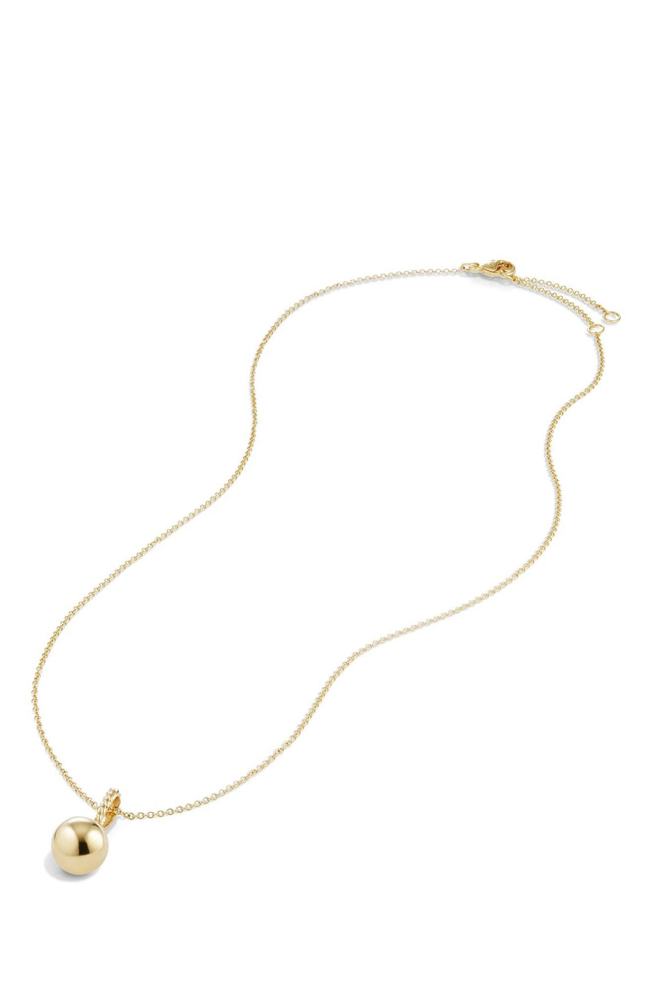 By David Yurman 'Solari' Pendant Necklace in 18K Gold,                             Alternate thumbnail 3, color,                             GOLD DOME