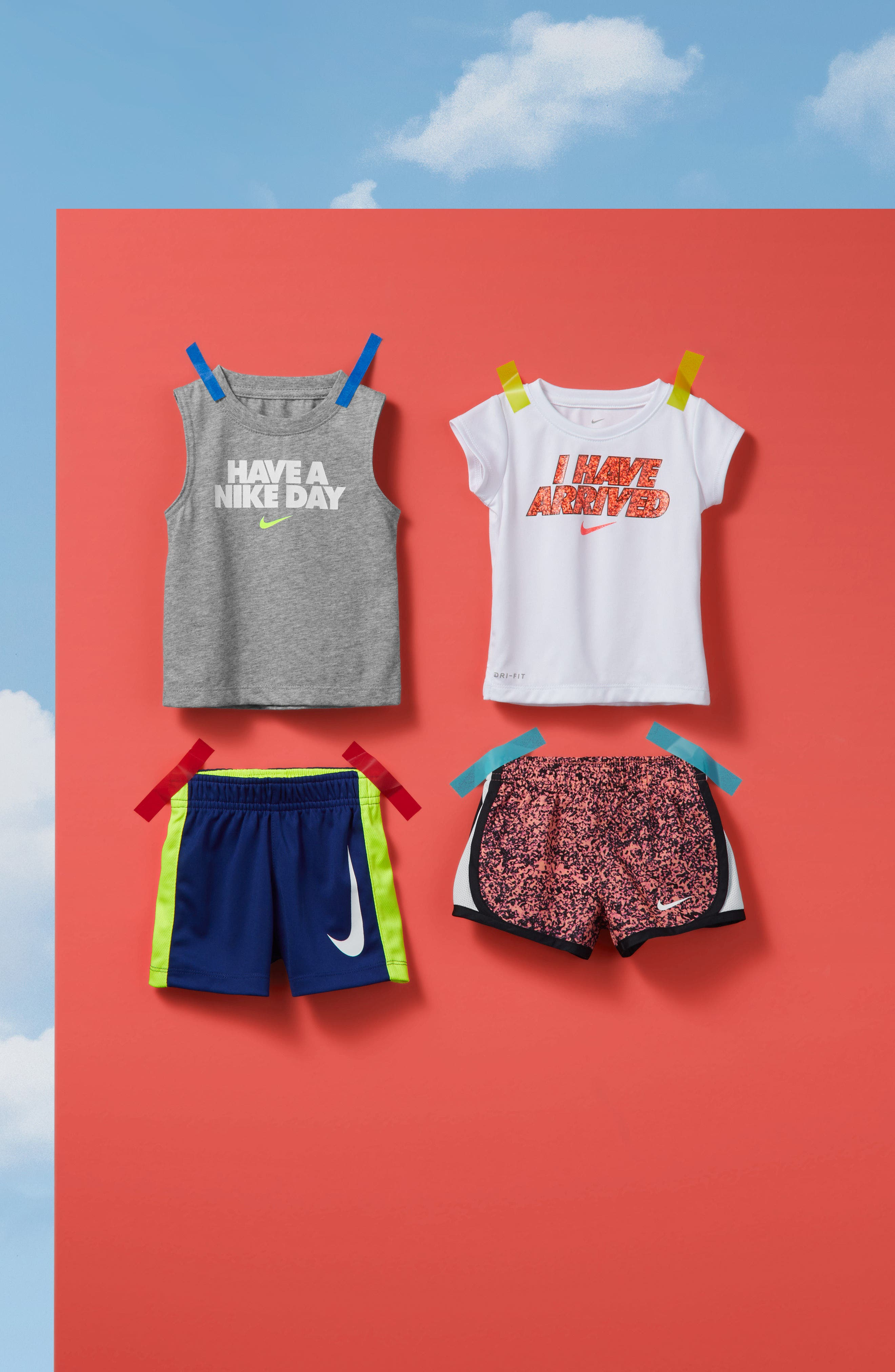 Have a Nike Day Tank Top & Shorts Set,                             Alternate thumbnail 3, color,                             433