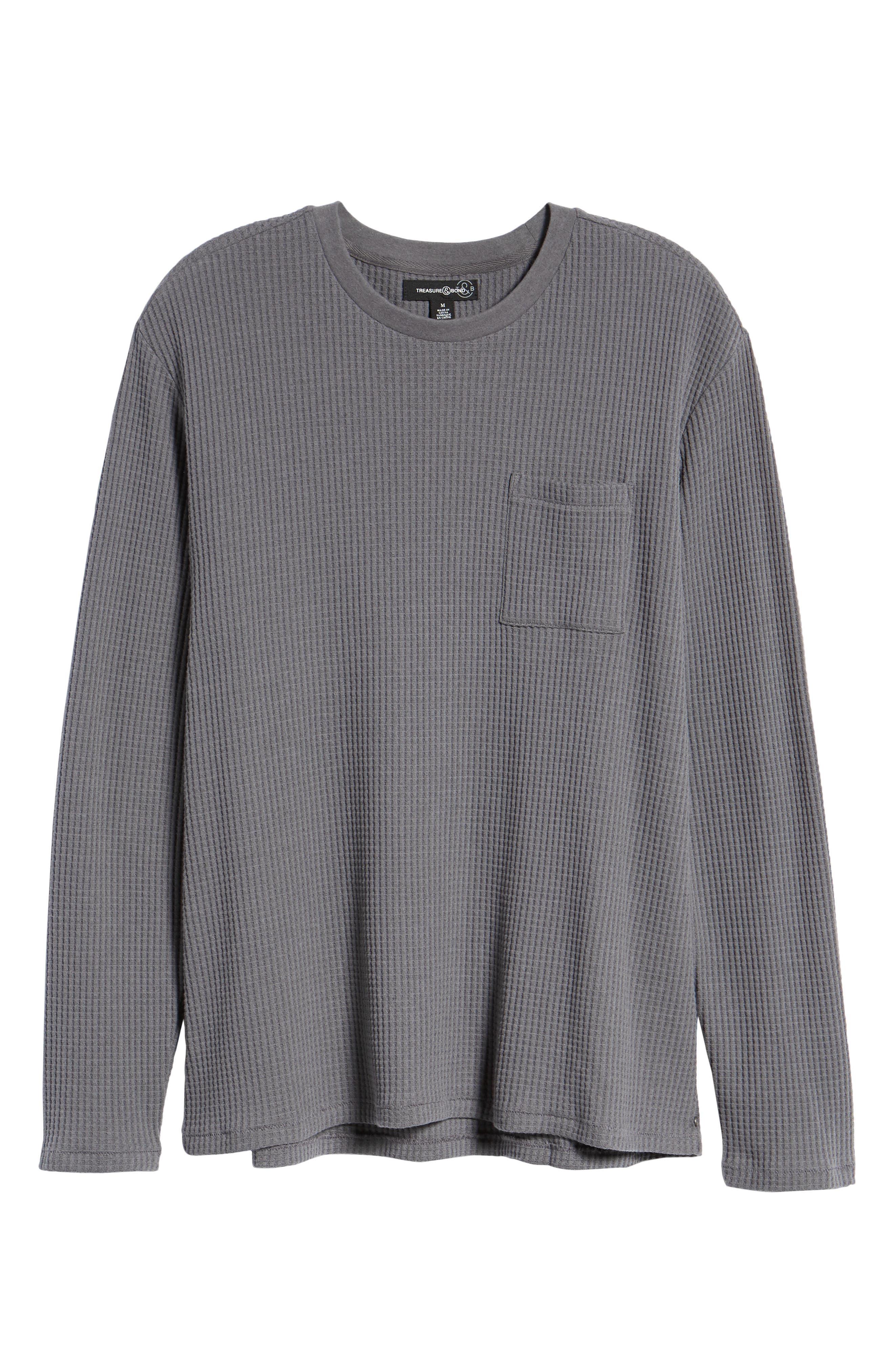 Regular Fit Thermal T-Shirt,                             Alternate thumbnail 6, color,                             GREY TORNADO