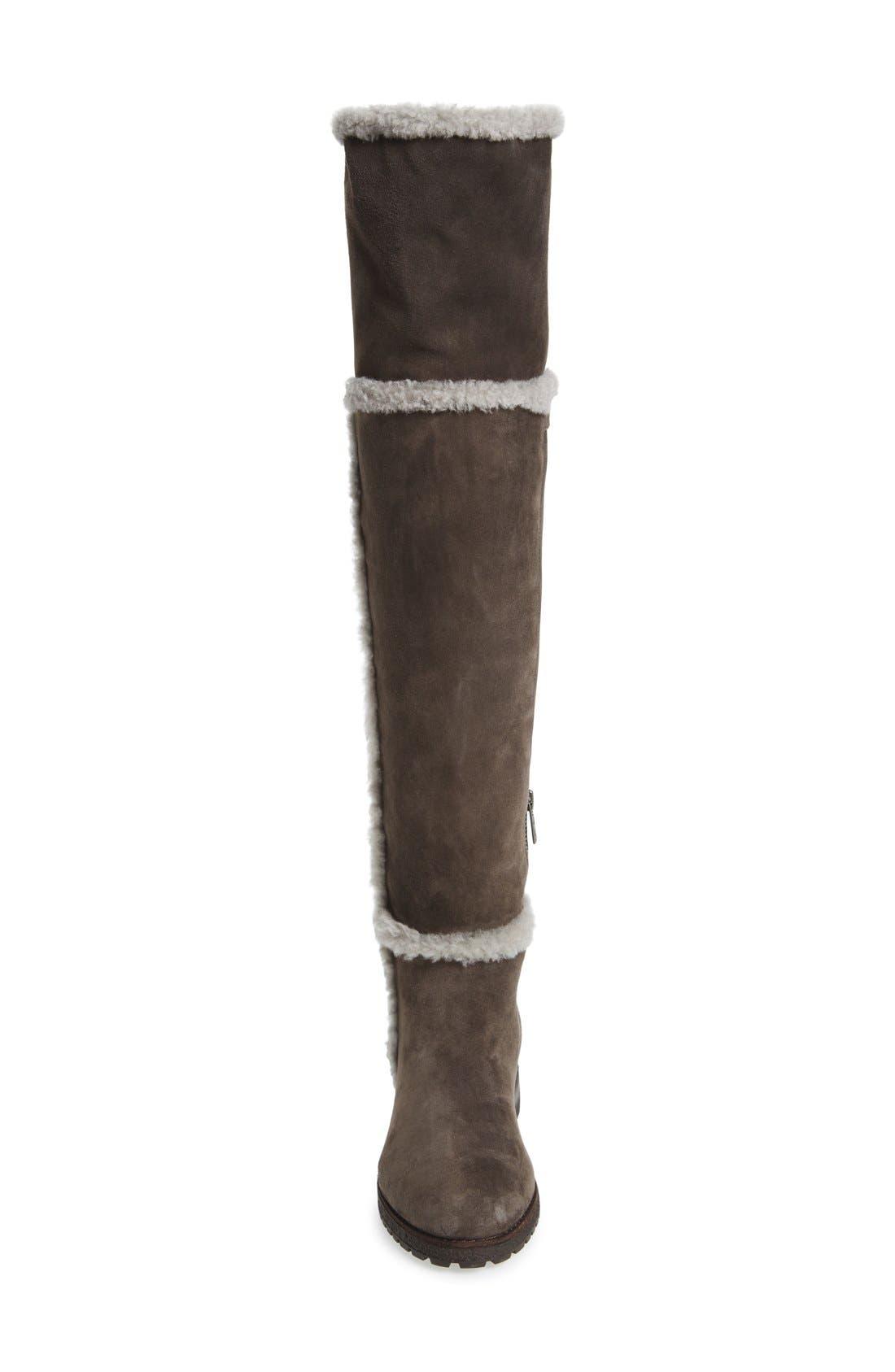 'Tamara' Genuine Shearling Over the Knee Boot,                             Alternate thumbnail 8, color,