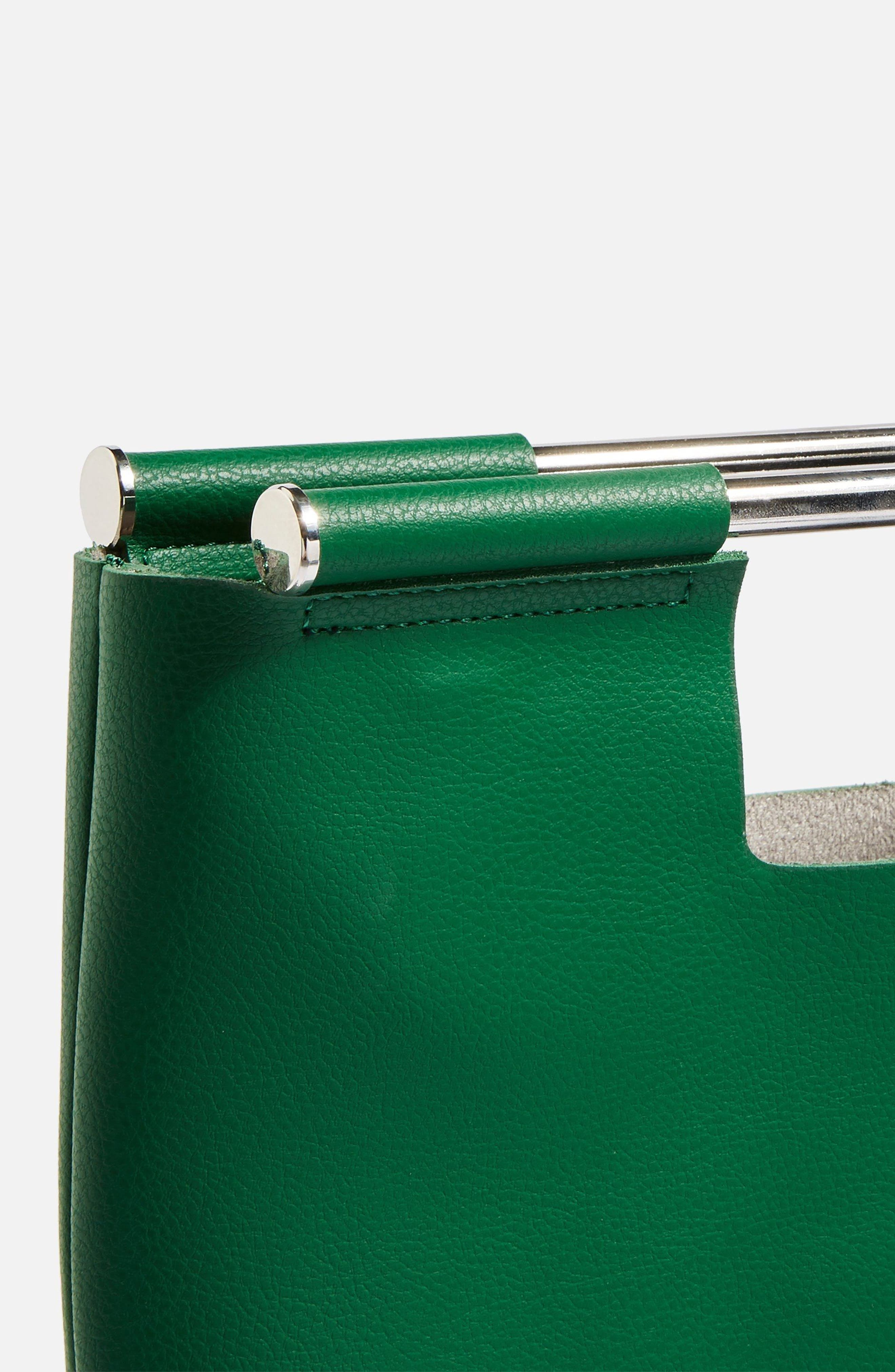 Lotus Metal Handle Clutch Bag,                             Alternate thumbnail 8, color,