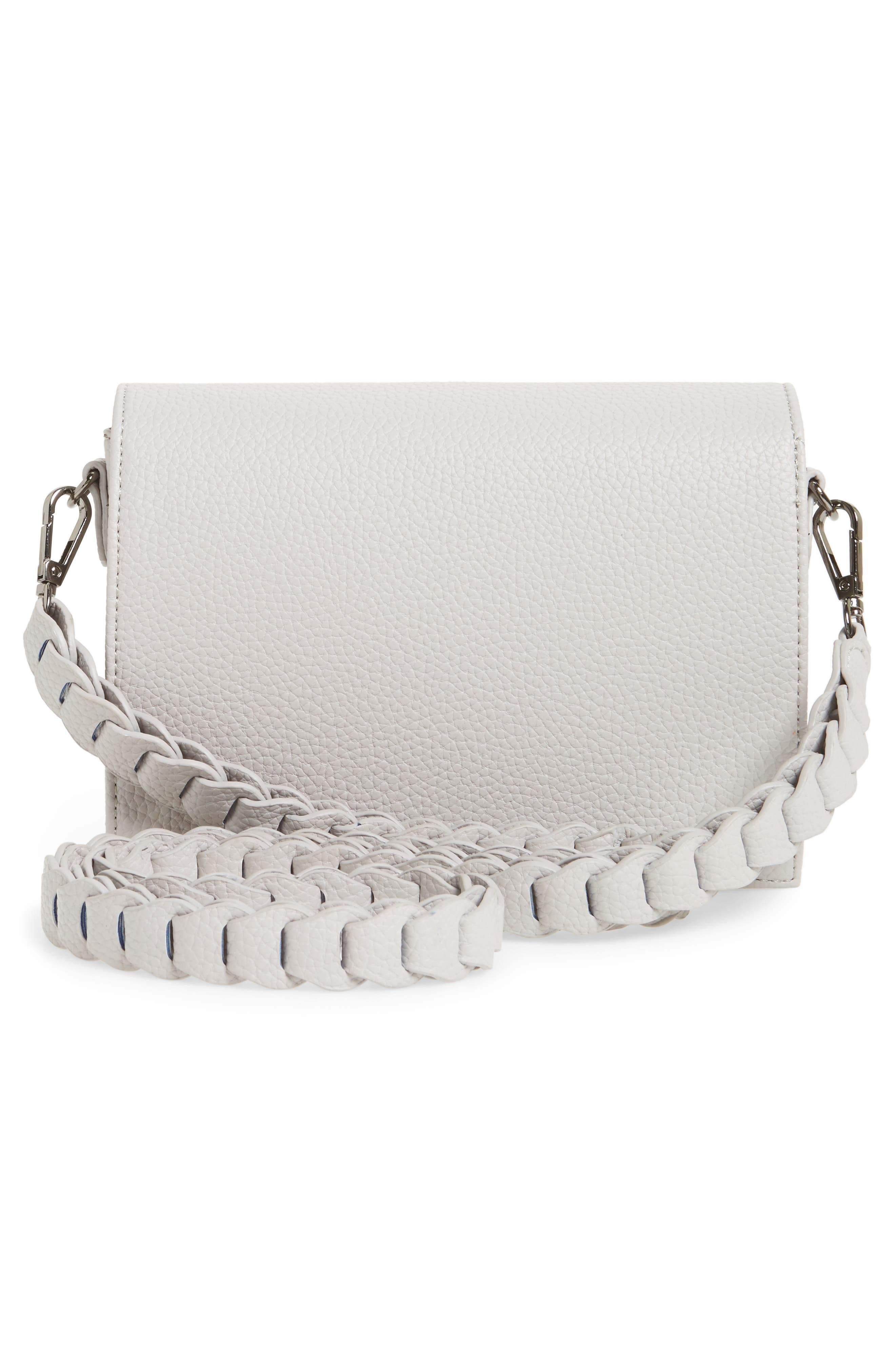 Braided Handle Crossbody Bag,                             Alternate thumbnail 3, color,                             020