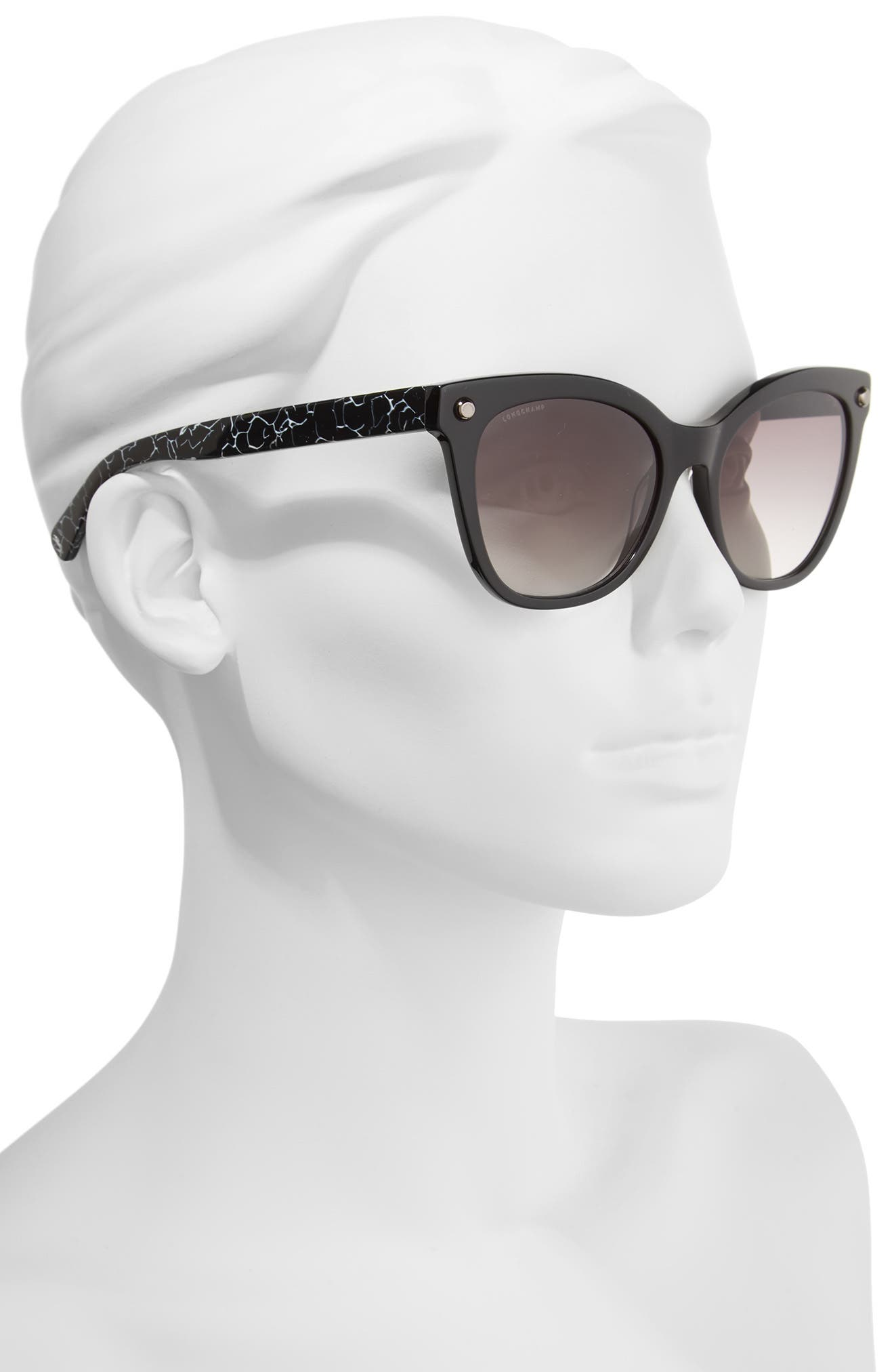 55mm Cat Eye Sunglasses,                             Alternate thumbnail 2, color,                             001