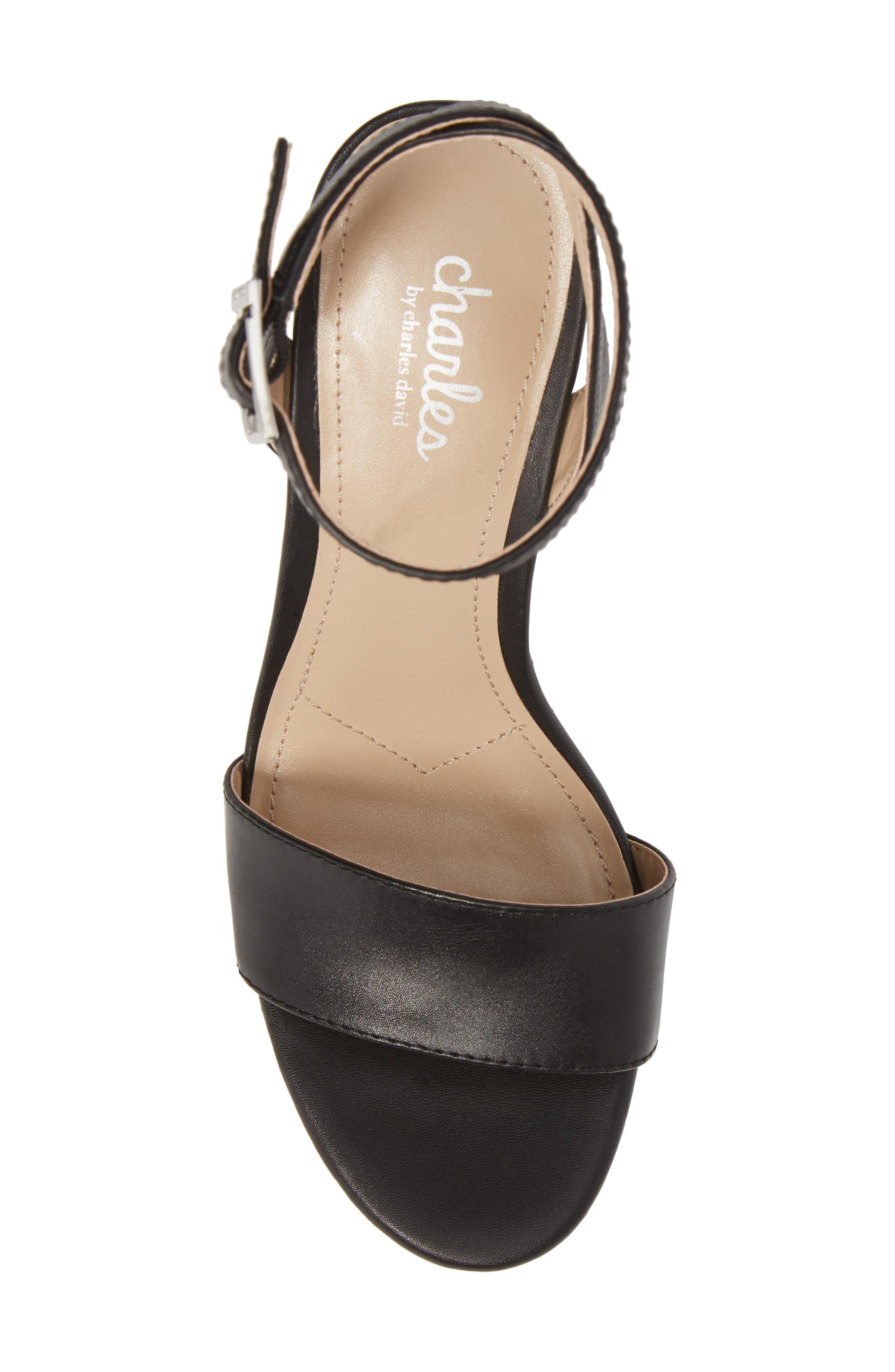 Lilla Platform Wedge Sandal,                             Alternate thumbnail 5, color,                             001