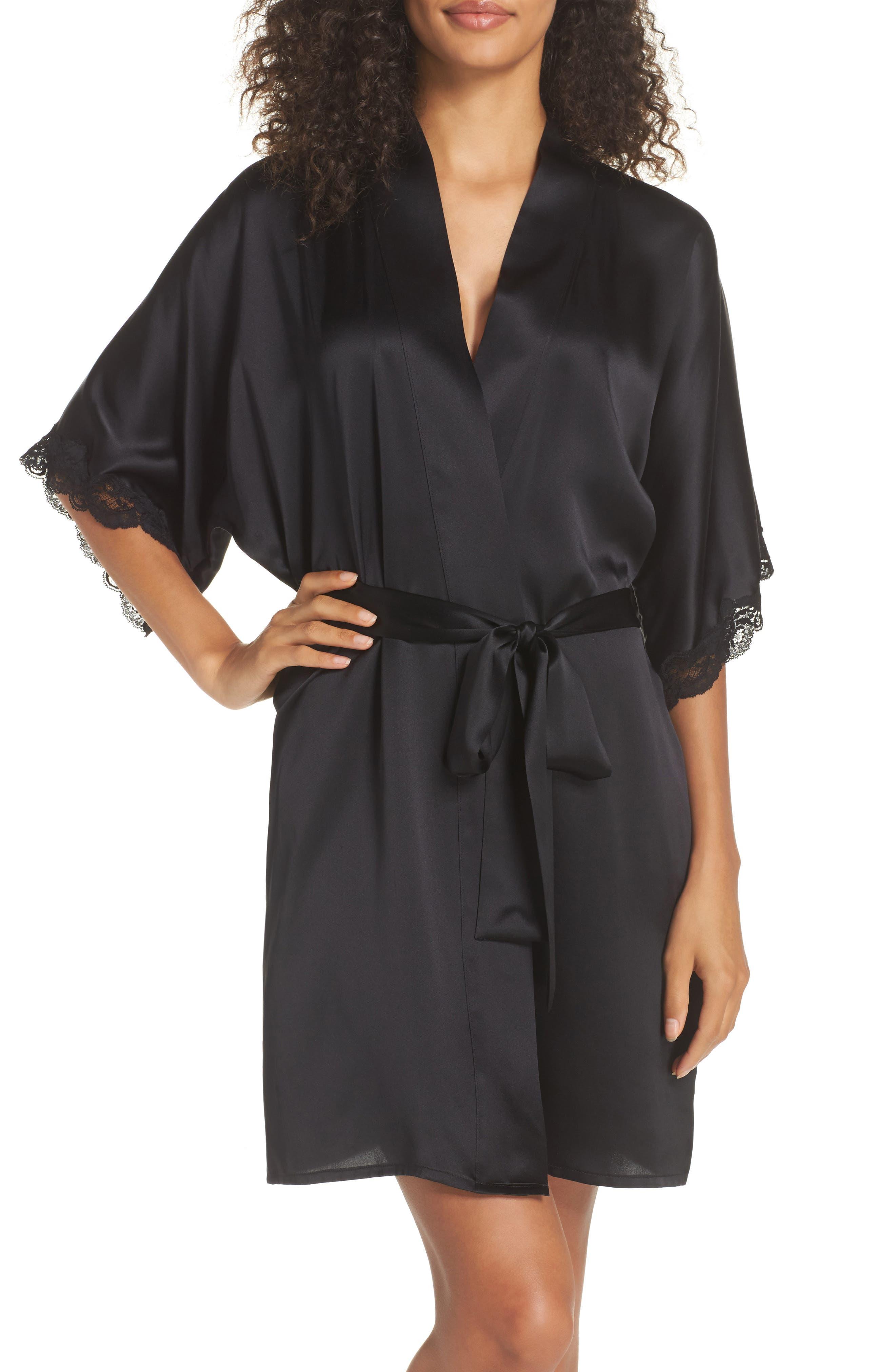 Christine Boudoir Silk Robe,                         Main,                         color, KOHL / KOHL