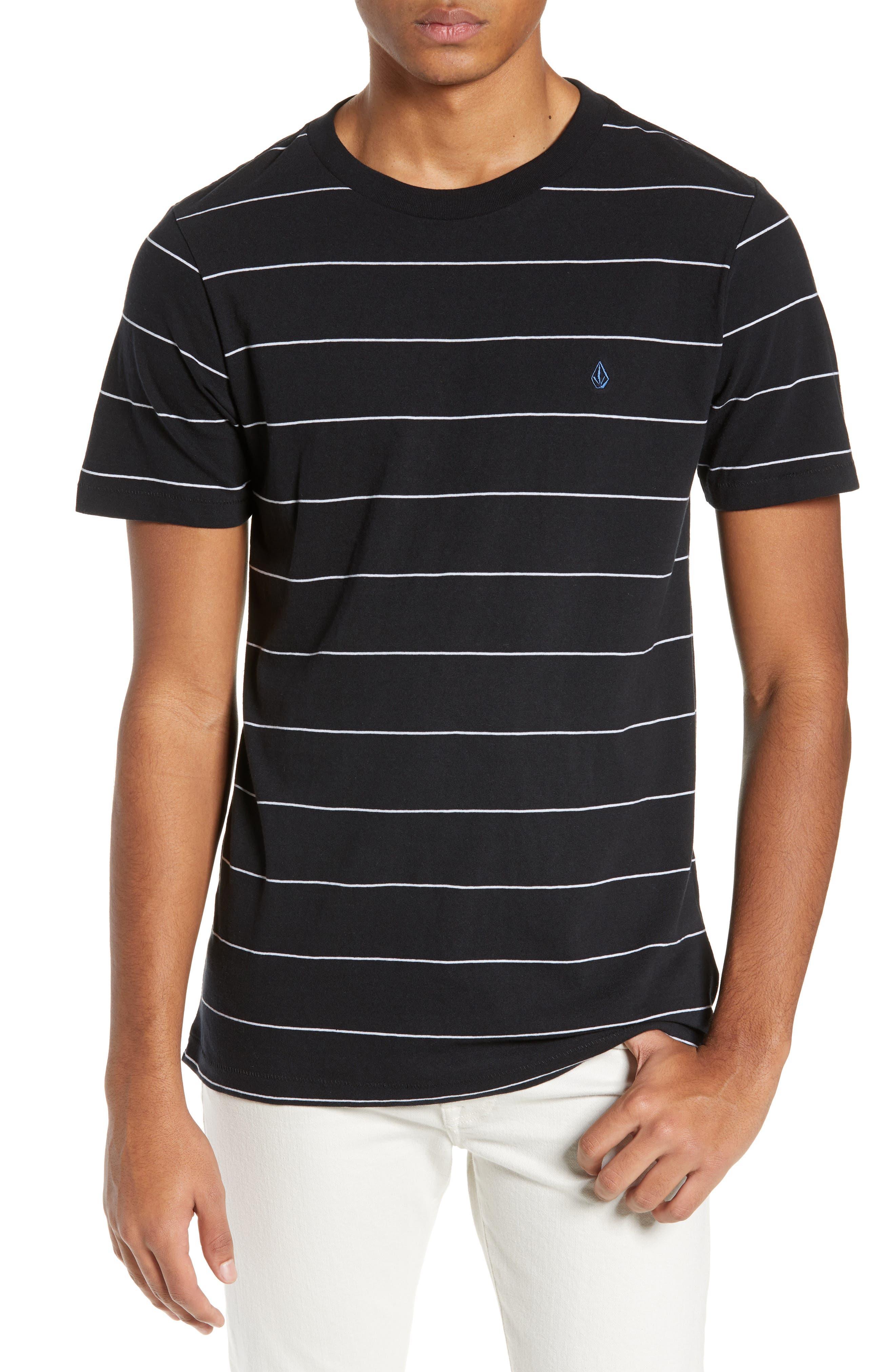 Joben Striped T-Shirt,                         Main,                         color, BLACK