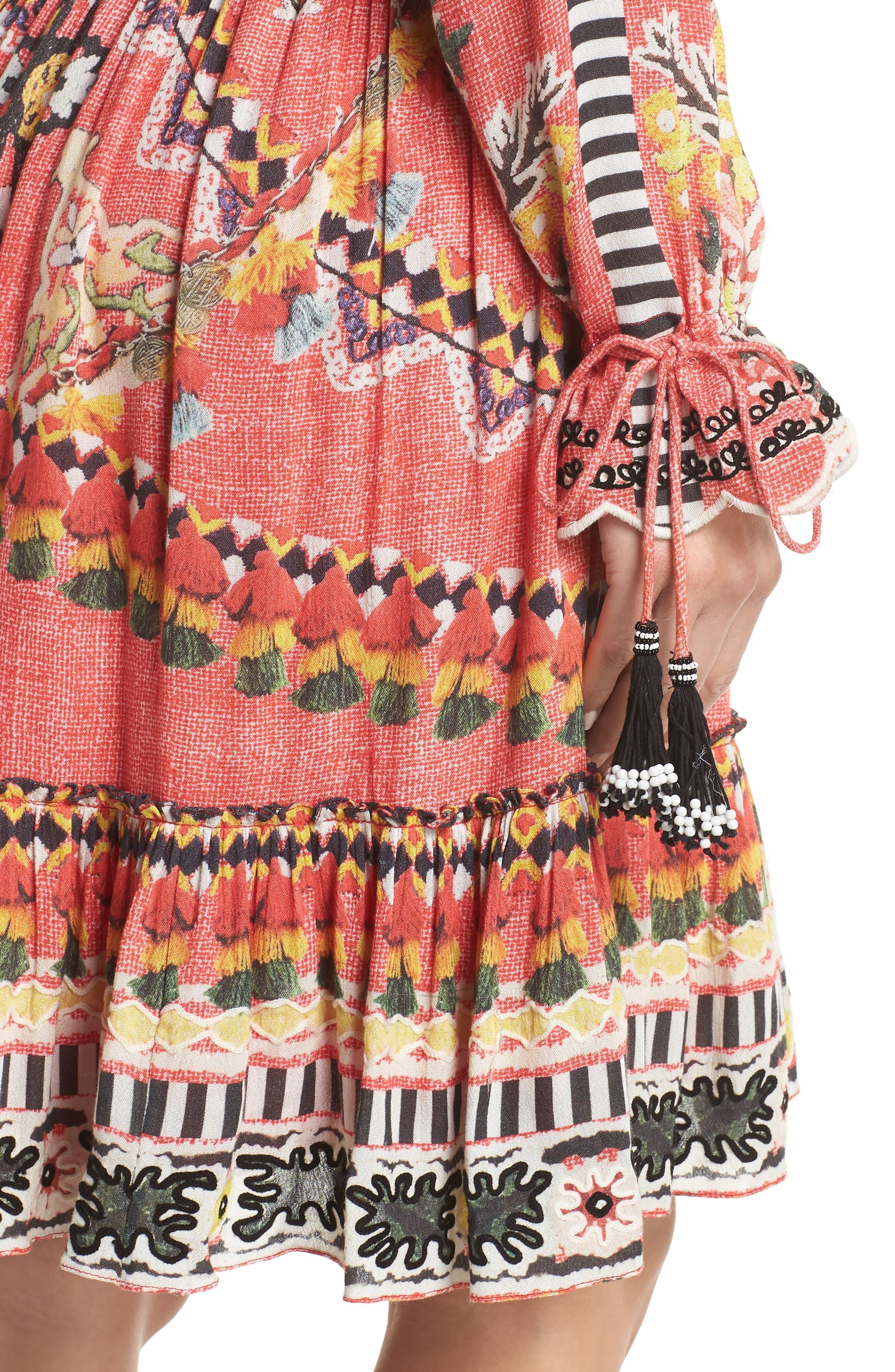 Hemant & Nandita Short Cover-Up Dress,                             Alternate thumbnail 4, color,                             605