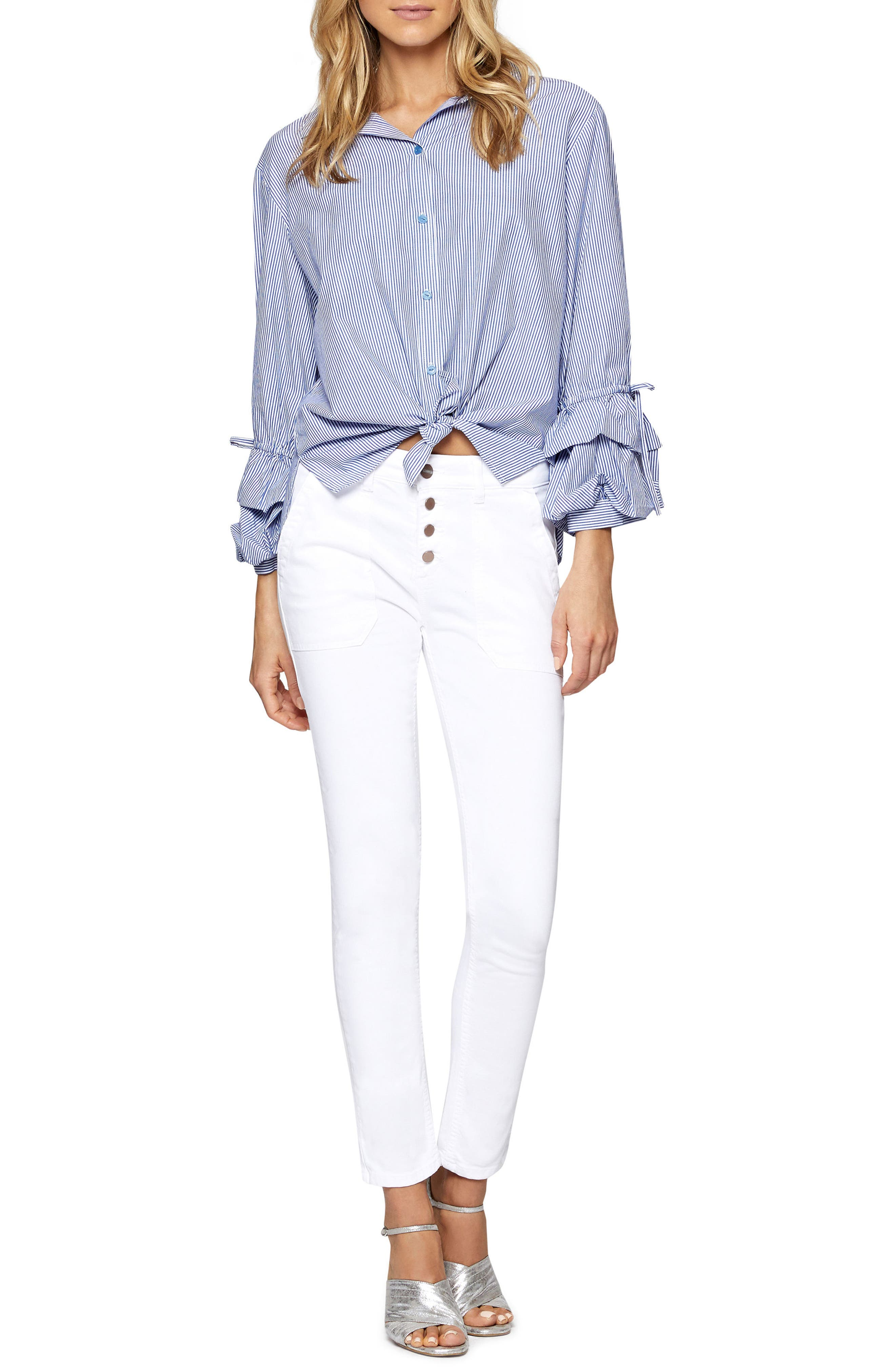 Frankie Ruffle Sleeve Shirt,                             Alternate thumbnail 5, color,                             422