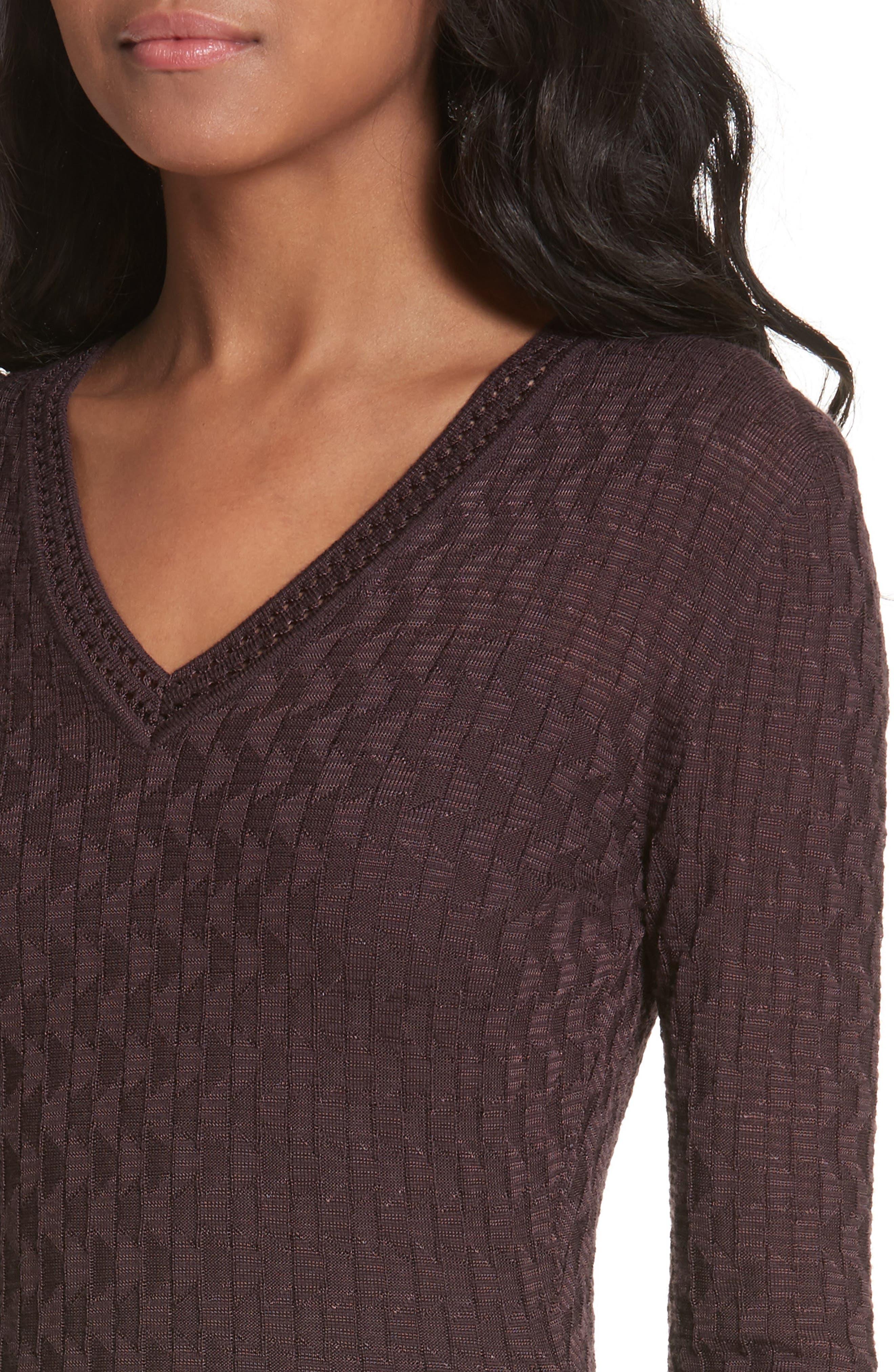 Wool Blend Knit A-Line Dress,                             Alternate thumbnail 4, color,                             570