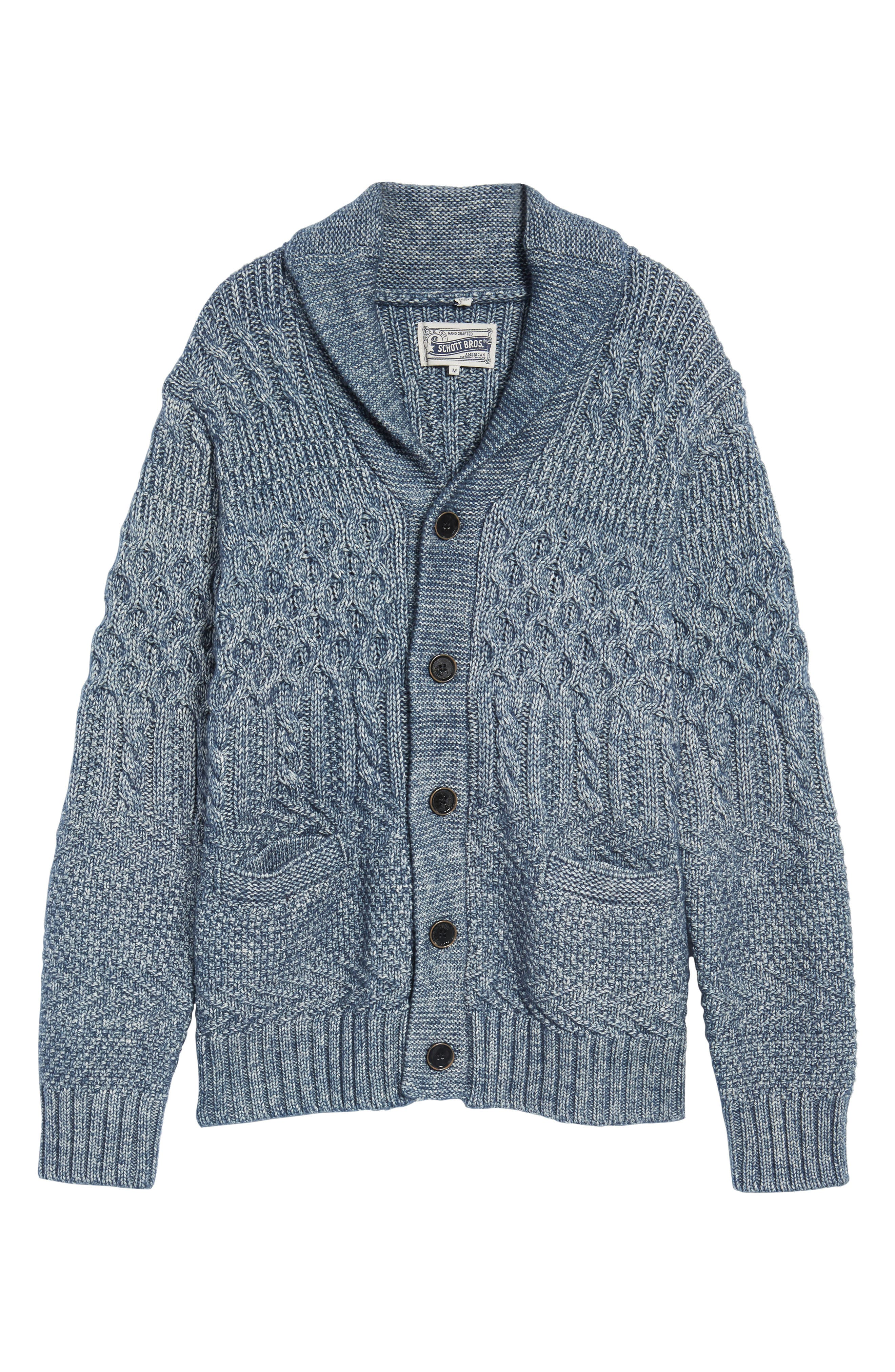 Cable Knit Cardigan,                             Alternate thumbnail 6, color,                             404