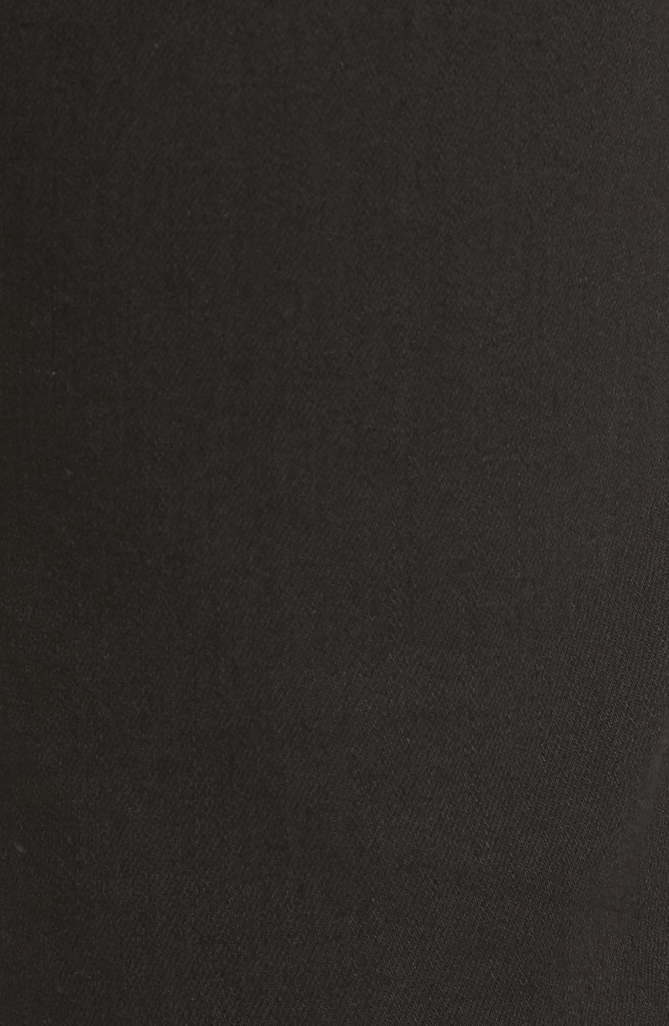 3D Zip Knee Super Slim Pants,                             Alternate thumbnail 5, color,                             001