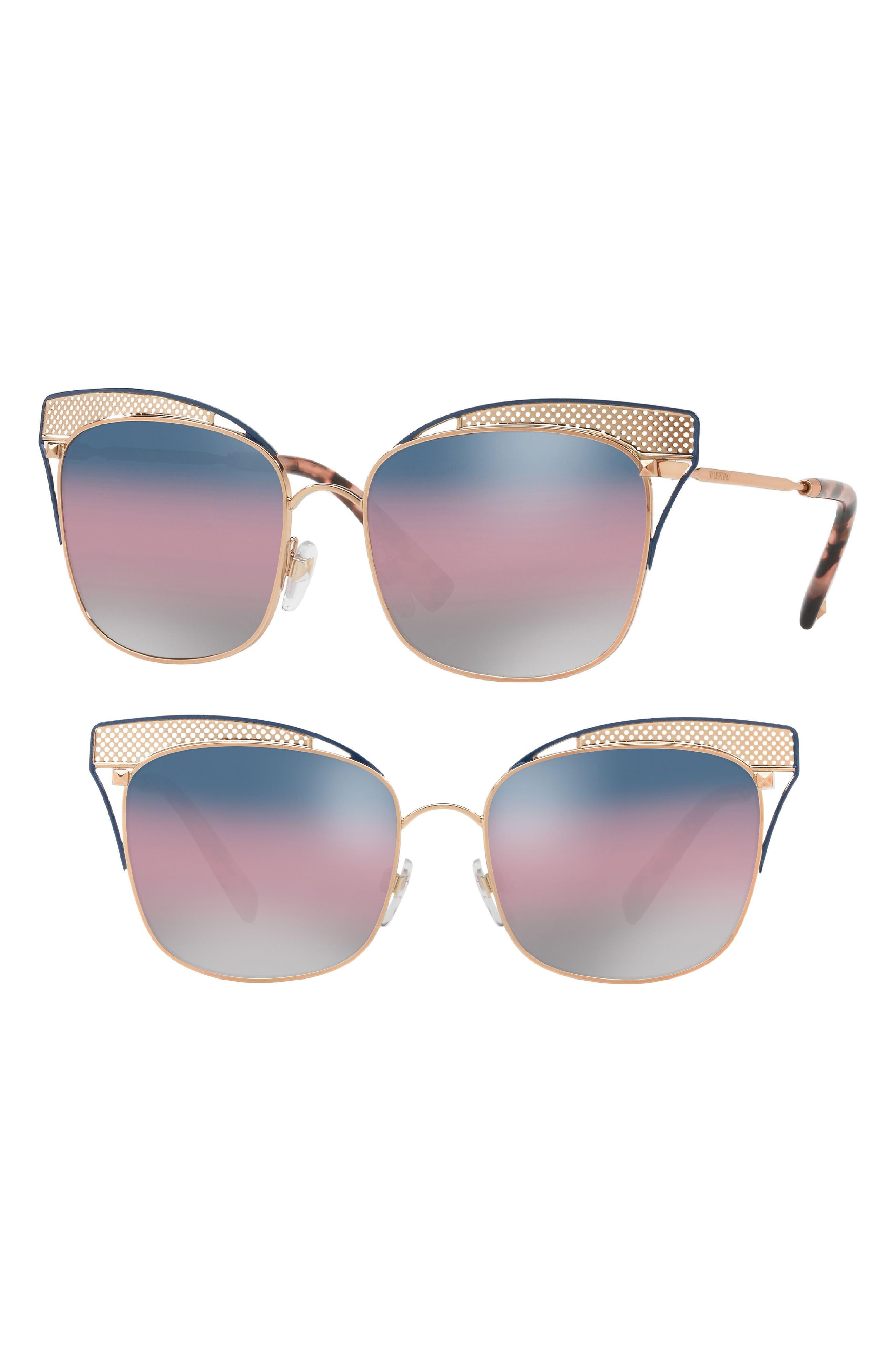 55mm Cat Eye Sunglasses,                             Main thumbnail 1, color,