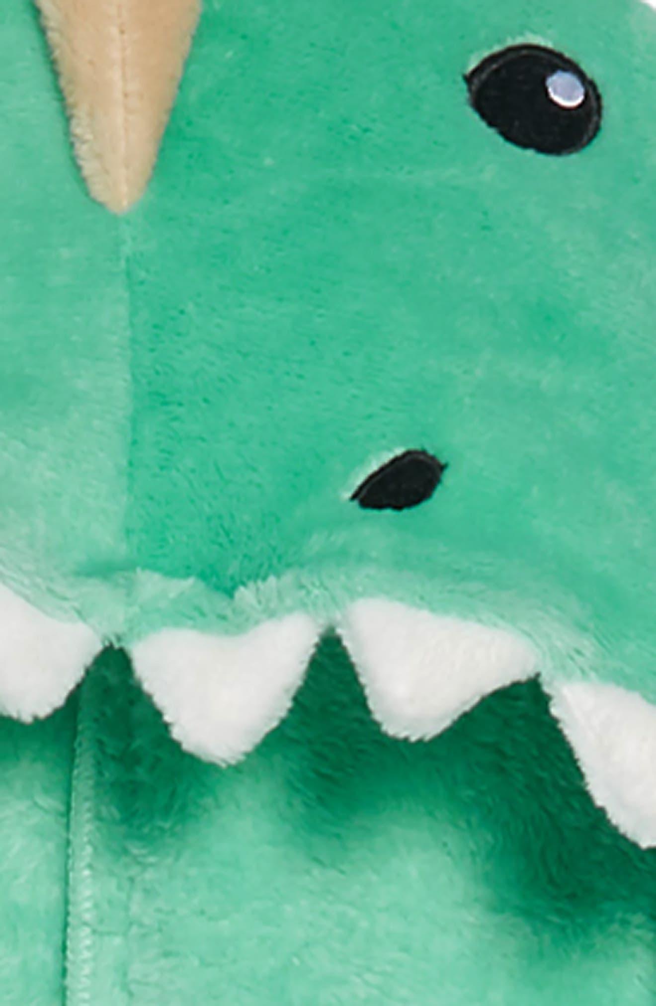 Dinosaur Hooded Blanket,                             Alternate thumbnail 2, color,                             DINOSAUR