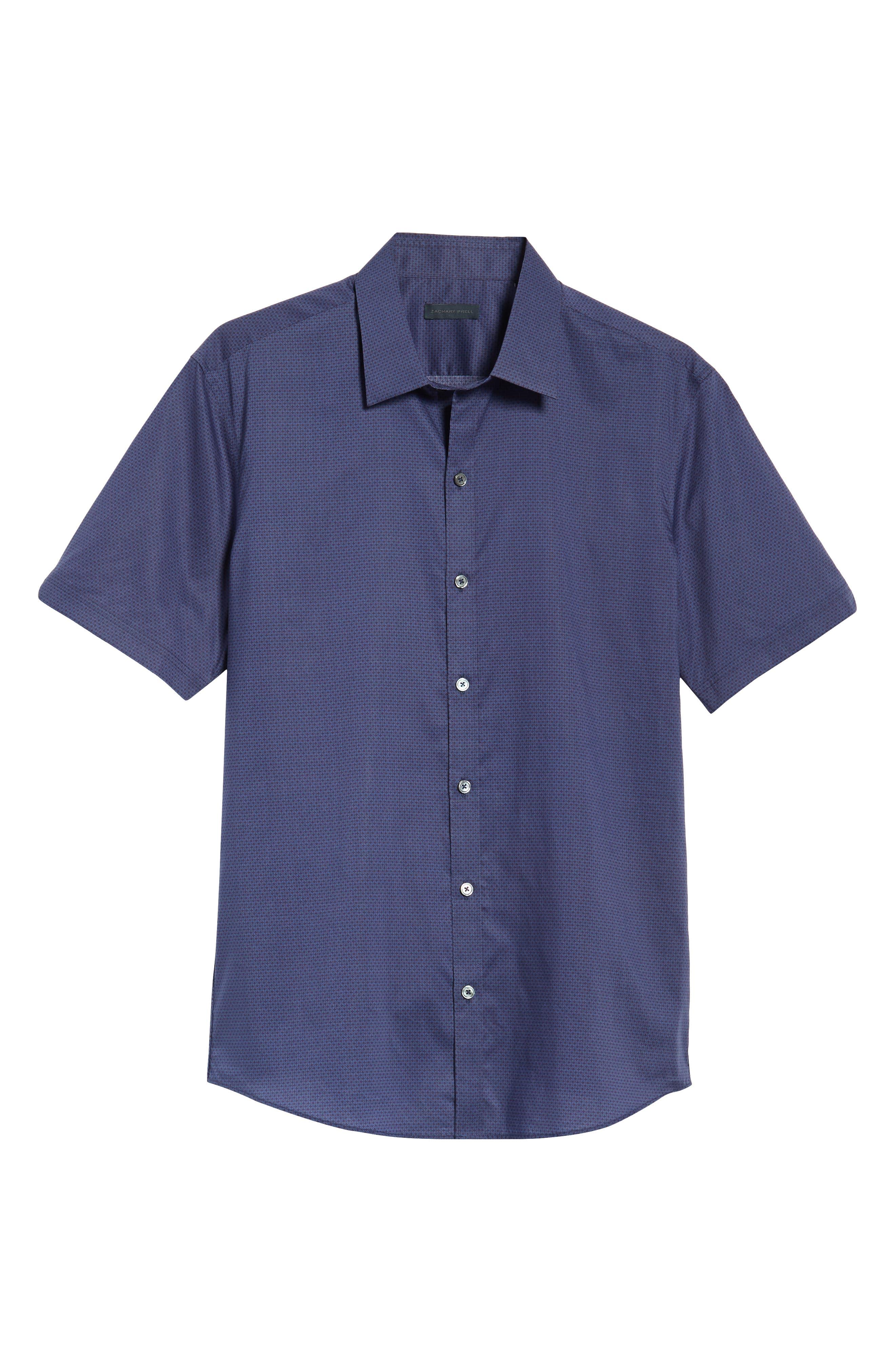Avellan Regular Fit Sport Shirt,                             Alternate thumbnail 6, color,                             BLUE