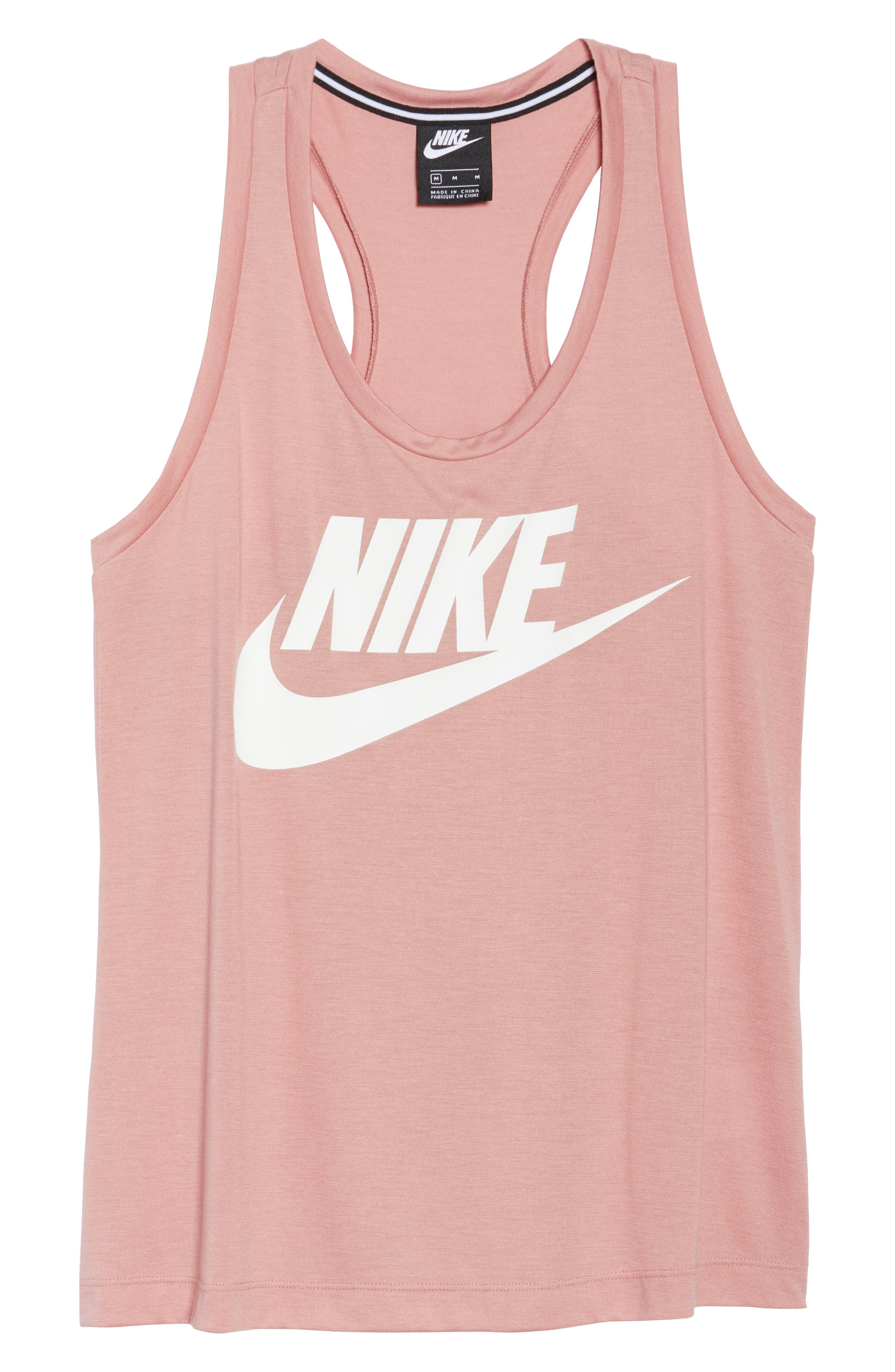 Essential Logo Tank,                             Alternate thumbnail 7, color,                             RUST PINK/ RUST PINK/ WHITE