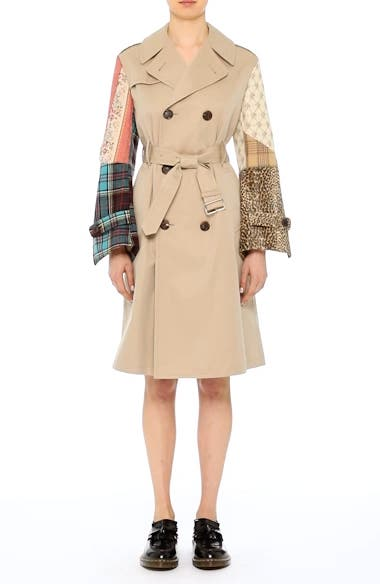 Patterned Sleeve Trench Coat, video thumbnail