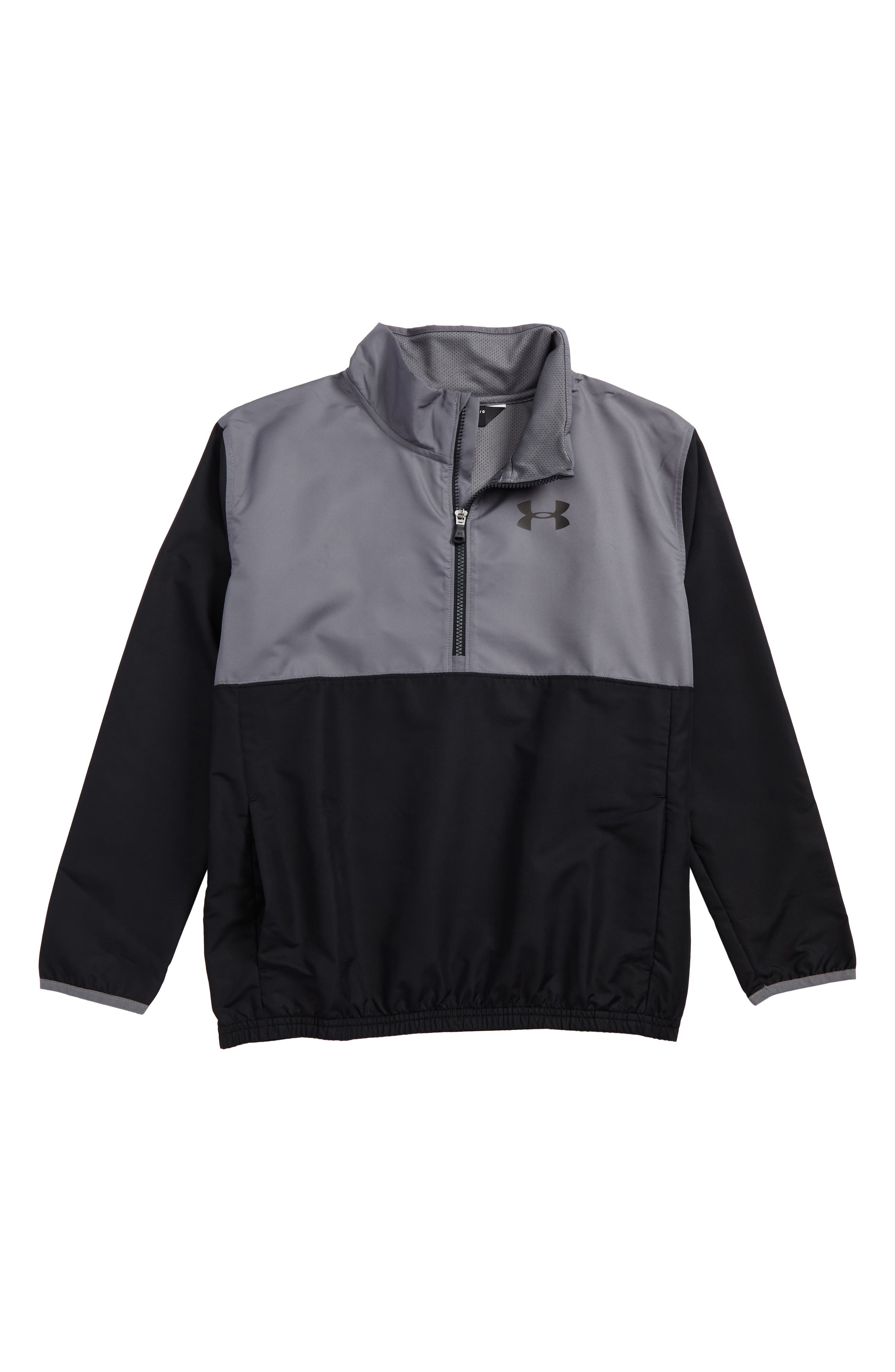 Train to Game Half Zip Pullover,                             Main thumbnail 1, color,                             001