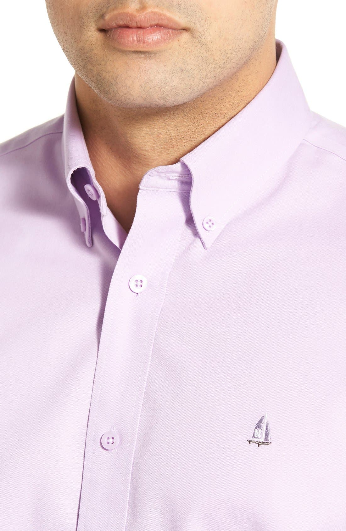 Smartcare<sup>™</sup> Traditional Fit Twill Boat Shirt,                             Alternate thumbnail 128, color,