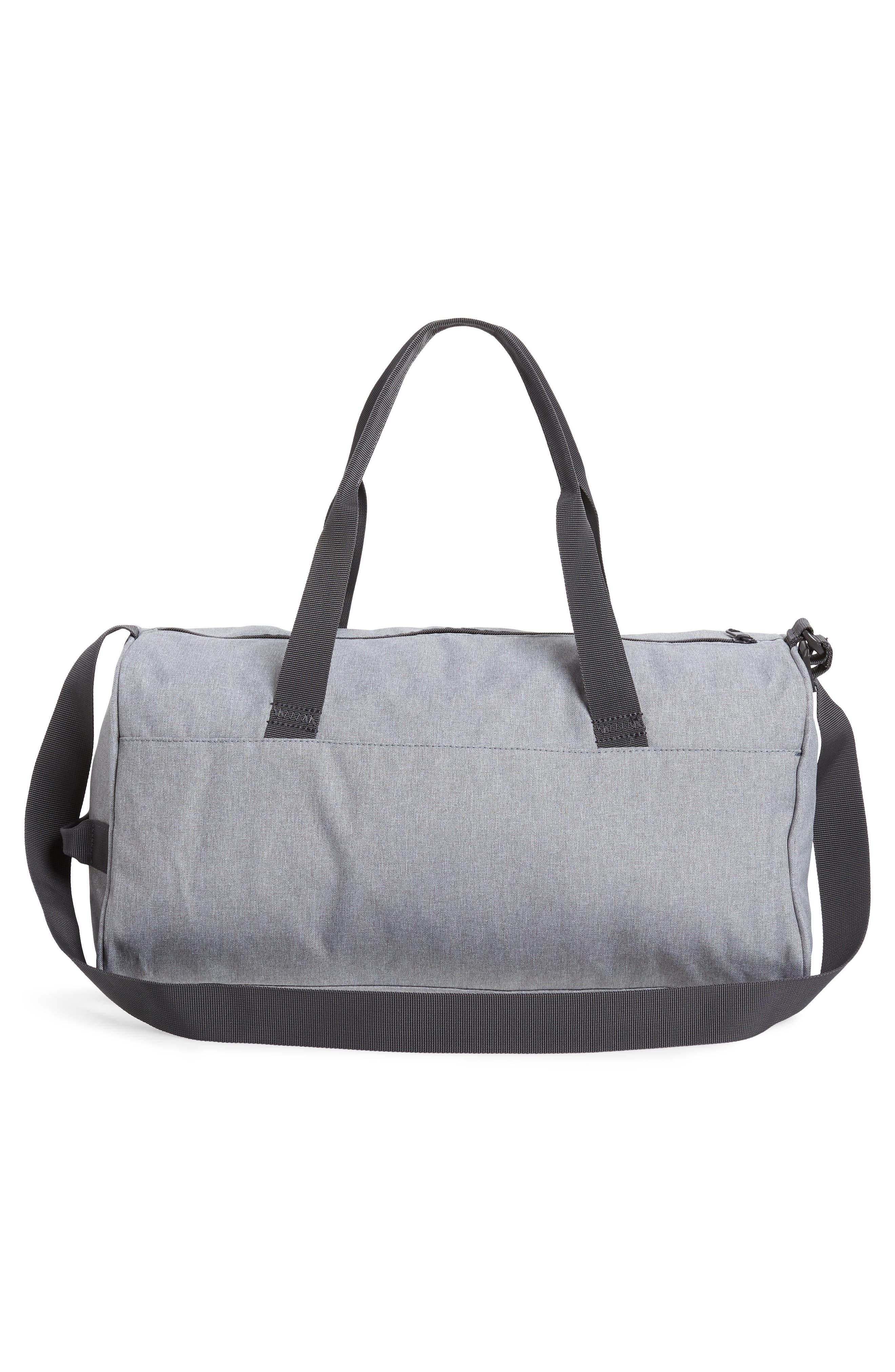 Select Water Resistant Duffel Bag,                             Alternate thumbnail 2, color,                             STEEL HEATHER /CHARCOAL/ORANGE