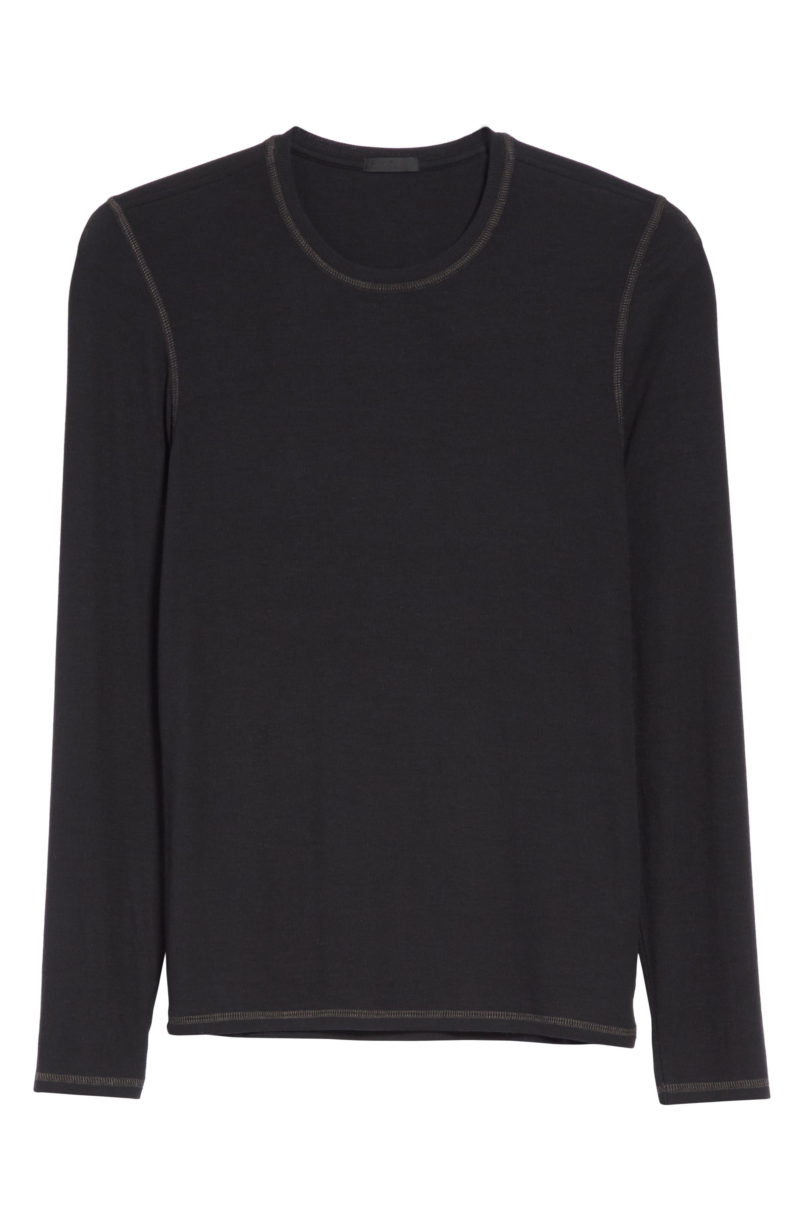 Rib Modal Crewneck Sweater,                             Alternate thumbnail 11, color,