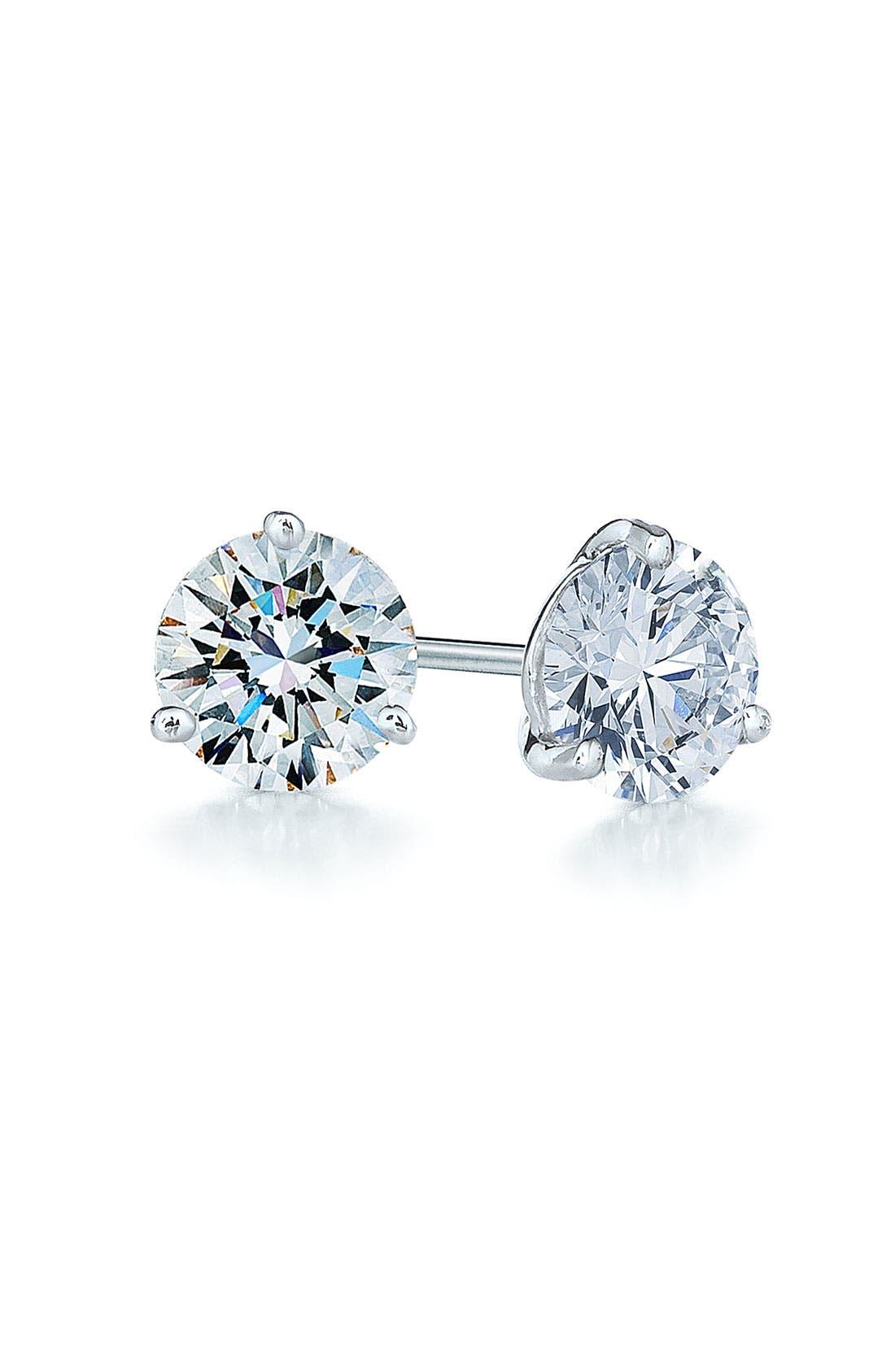 0.75ct tw Diamond & Platinum Stud Earrings,                         Main,                         color, PLATINUM