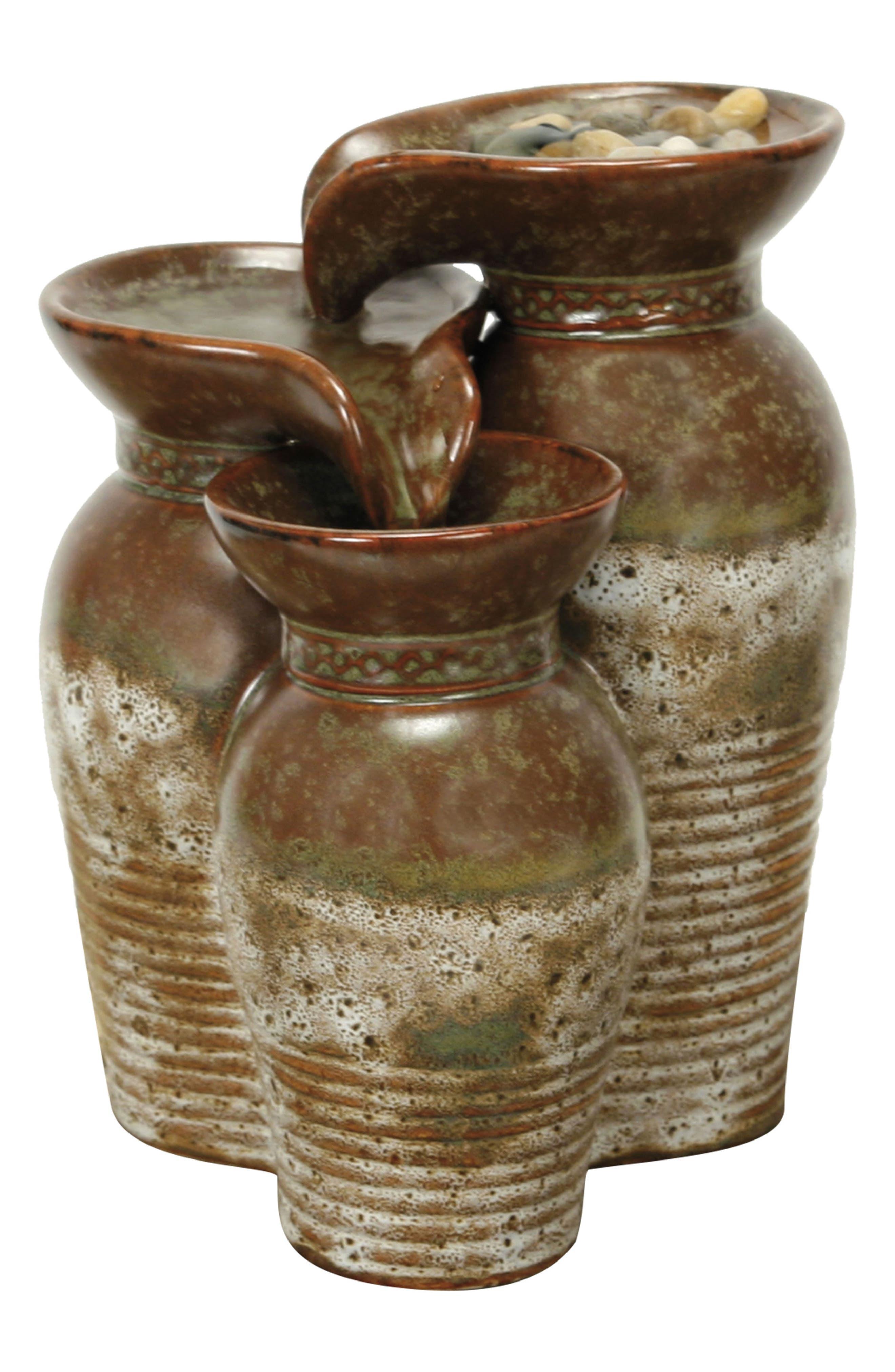 Ceramic Fountain Vase, Main, color, 200