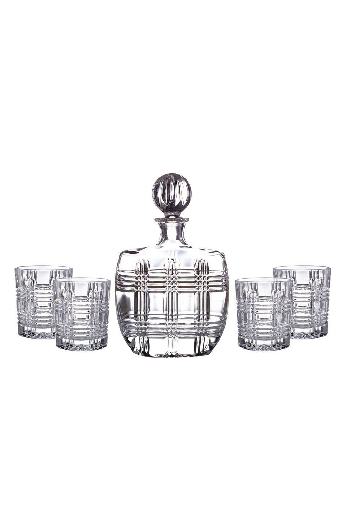 Bridgeport 5-Piece Decanter & Whiskey Glasses Set,                             Main thumbnail 1, color,                             100
